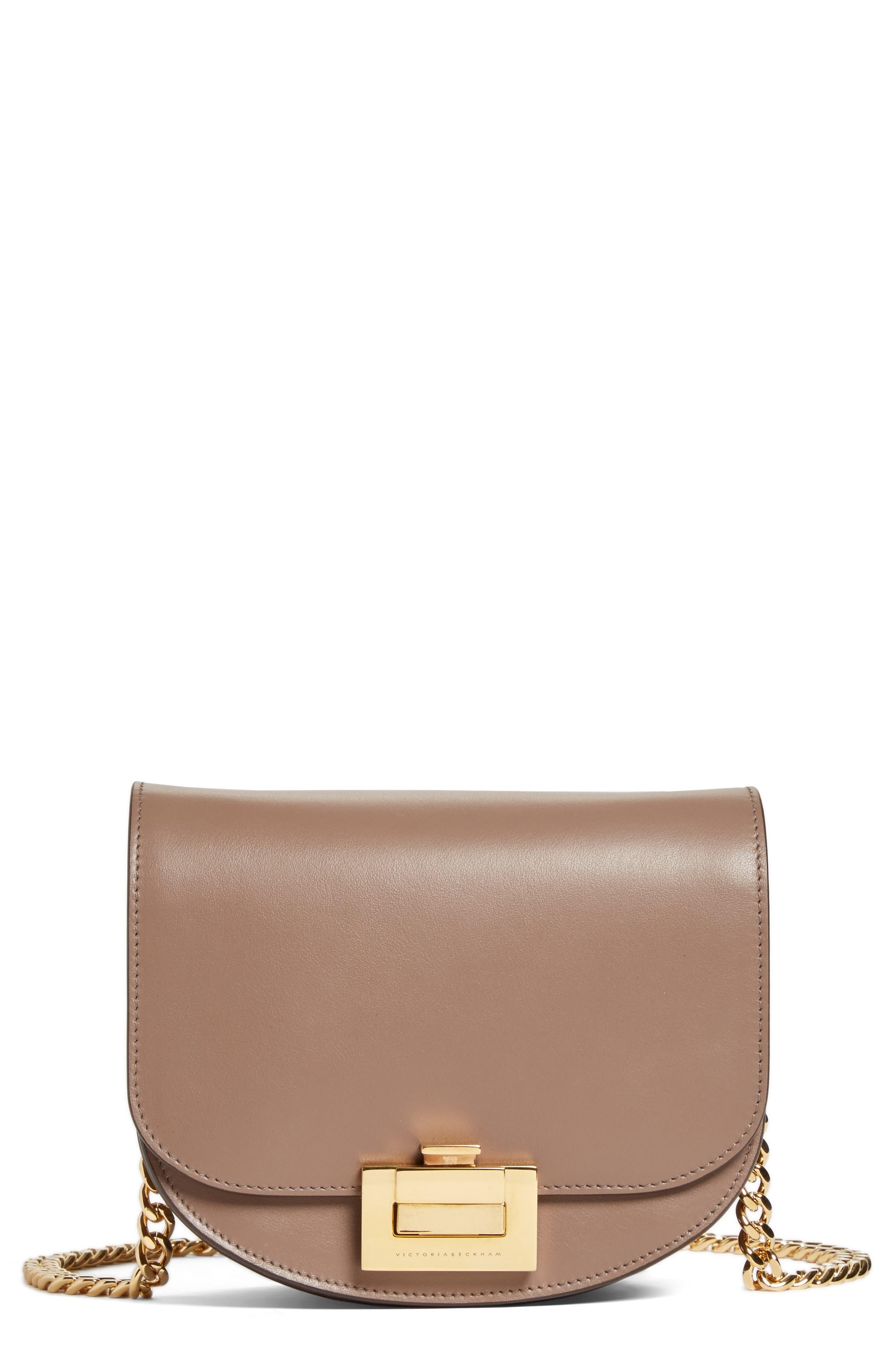 Victoria Beckham Medium Box Leather Shoulder Bag