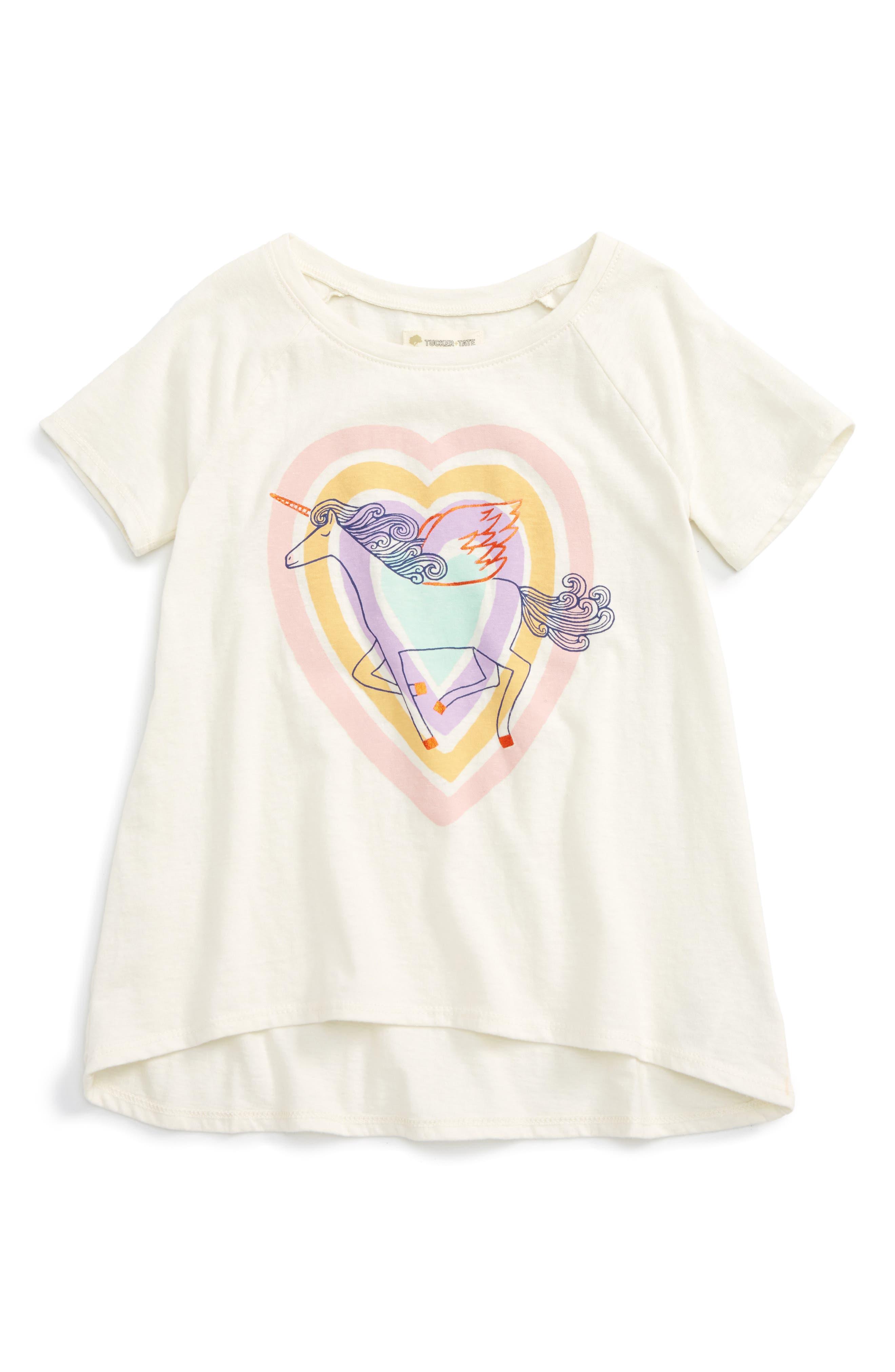 Tucker + Tate Rainbow Glitter Cloud Tee (Toddler Girls, Little Girls & Big Girls)