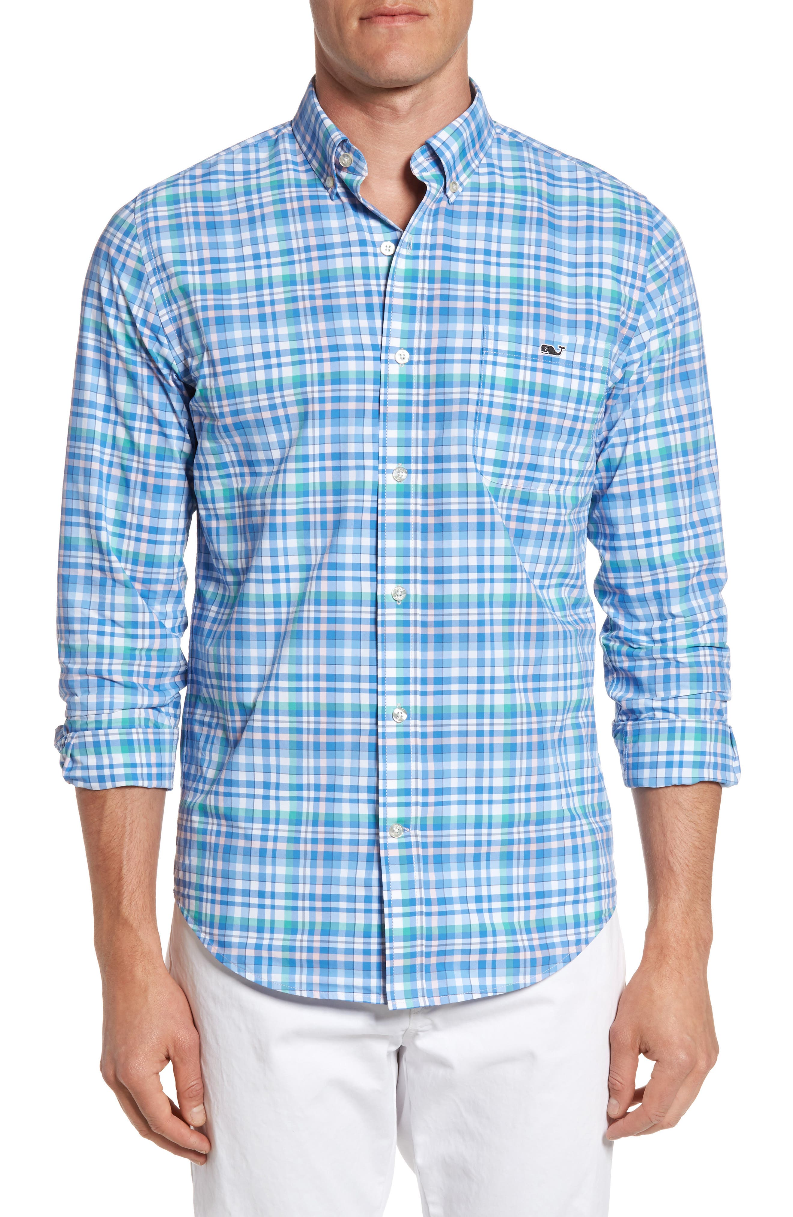 Vineyard Vines Plaid Performance Sport Shirt