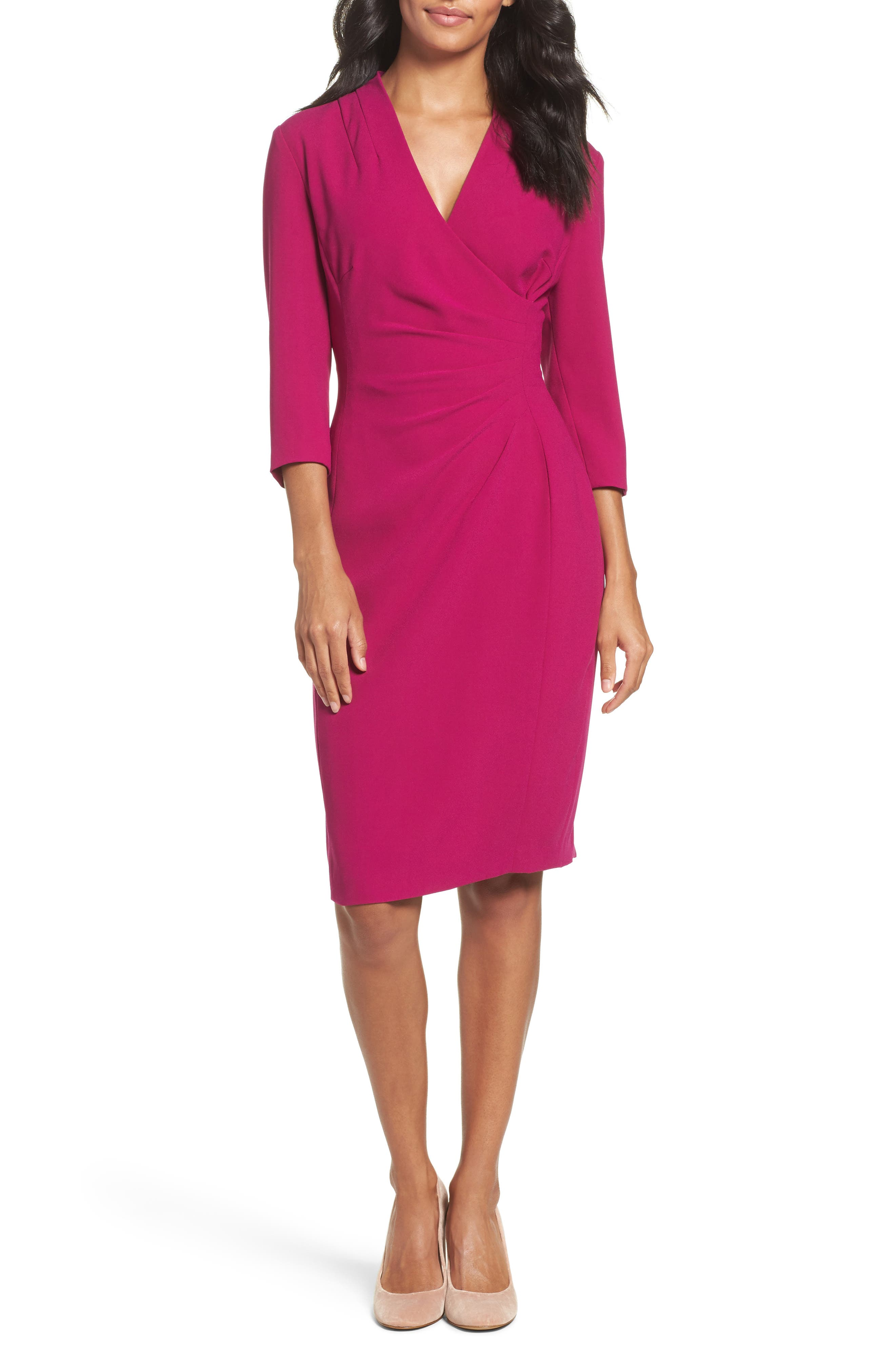 Tahari Crepe Sheath Dress (Regular & Petite)