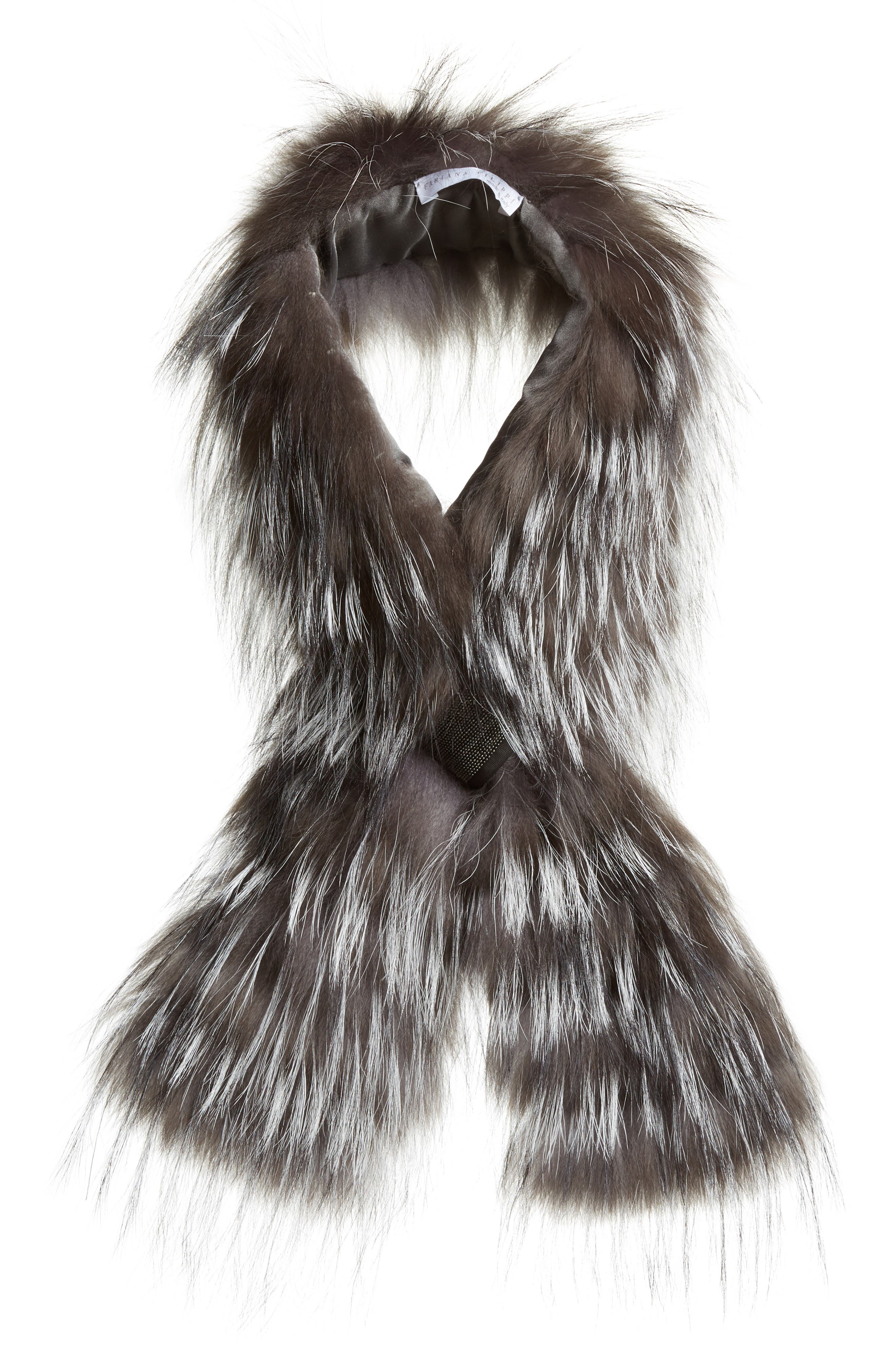 Fabiana Filippi Embellished Genuine Fox Fur Collar