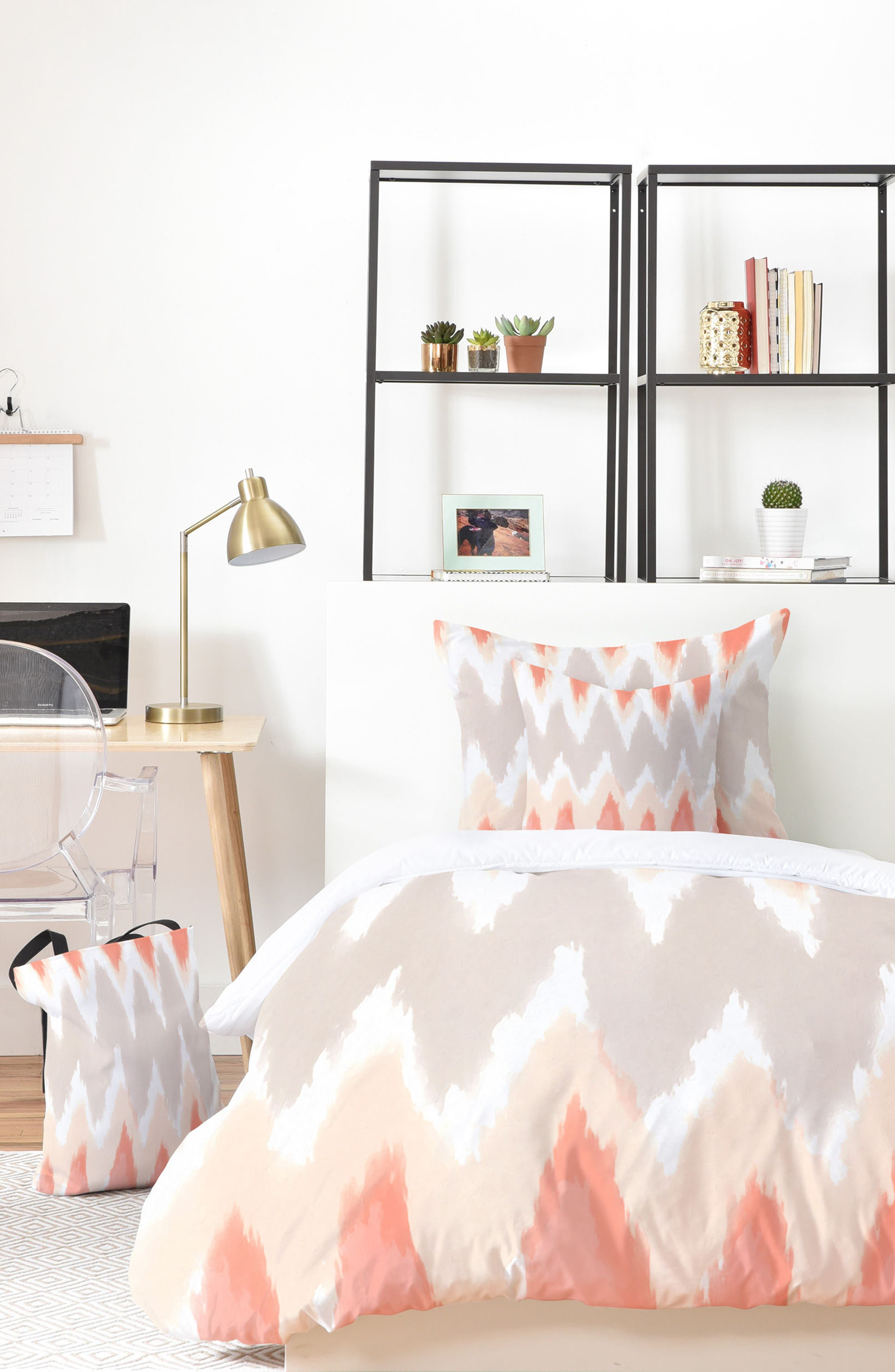 DENY Designs Zoe Wodarz Zigzagzig Bed in a Bag Duvet Cover, Sham & Accent Pillow Set