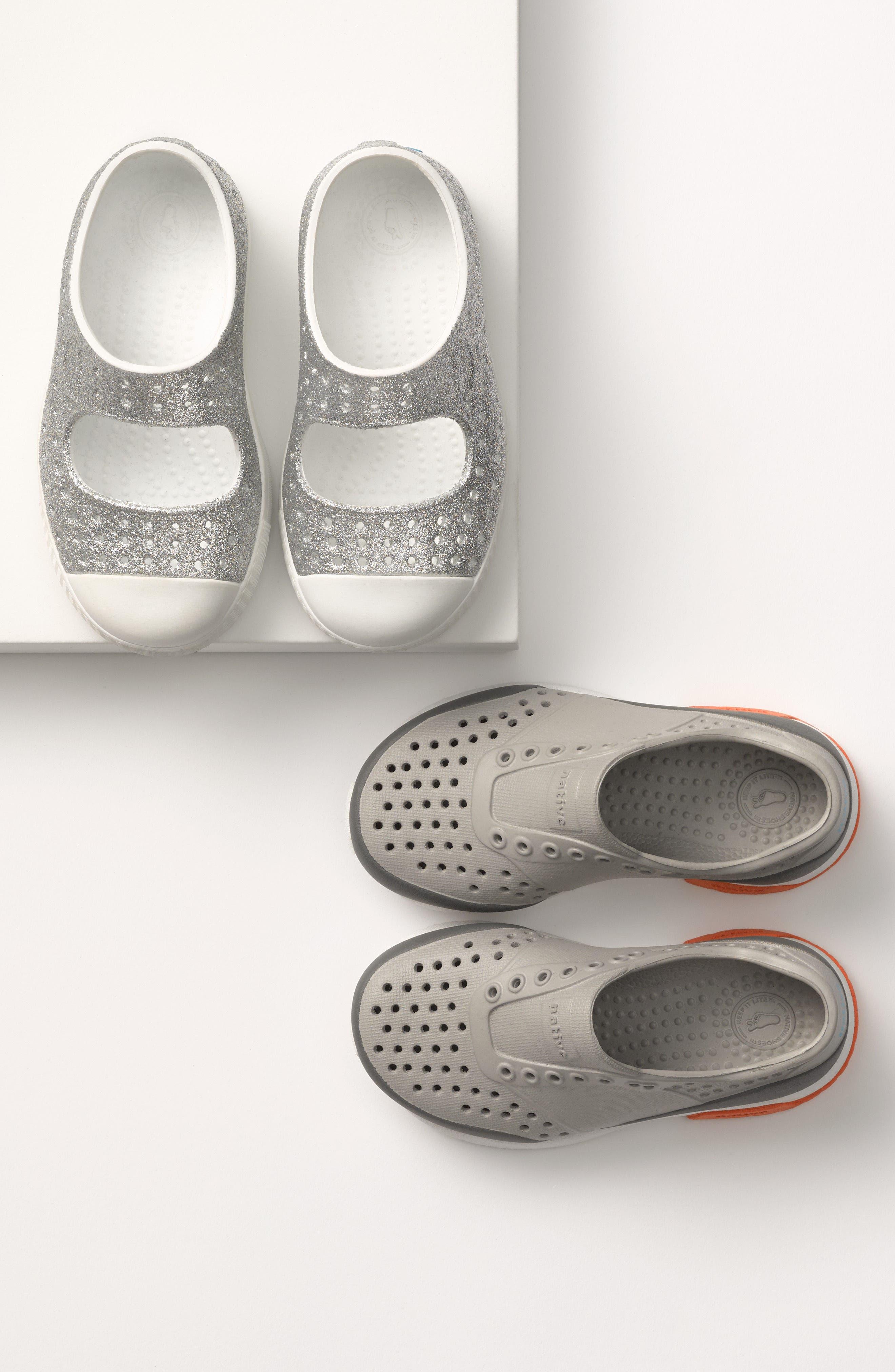 Alternate Image 7  - Native Shoes Juniper Bling Perforated Mary Jane (Baby, Walker, Toddler & Little Kid)