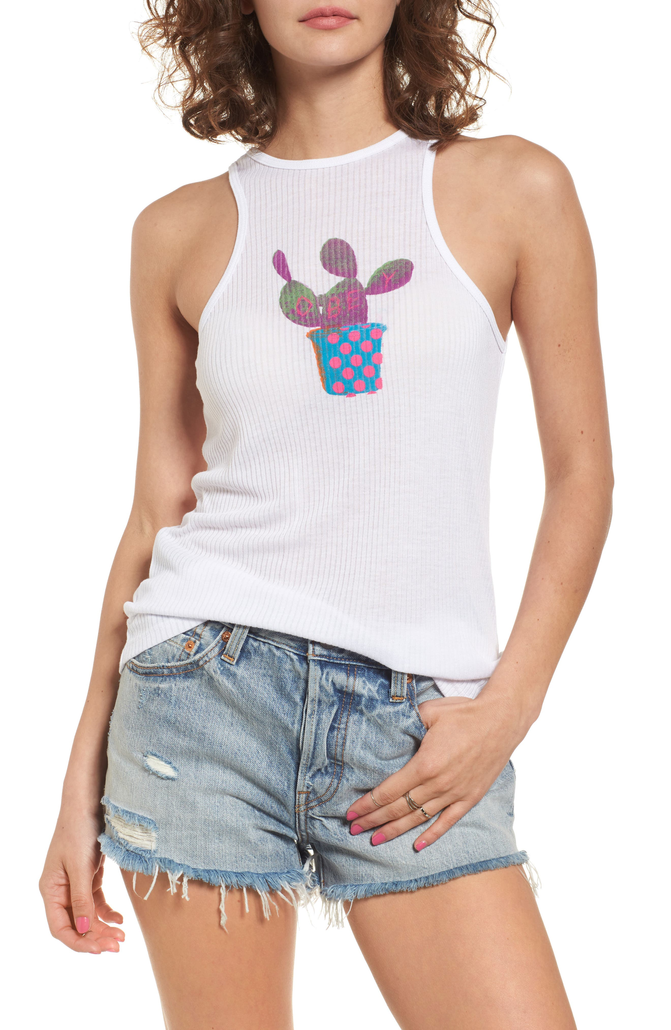 Obey Cactus Graphic Tank