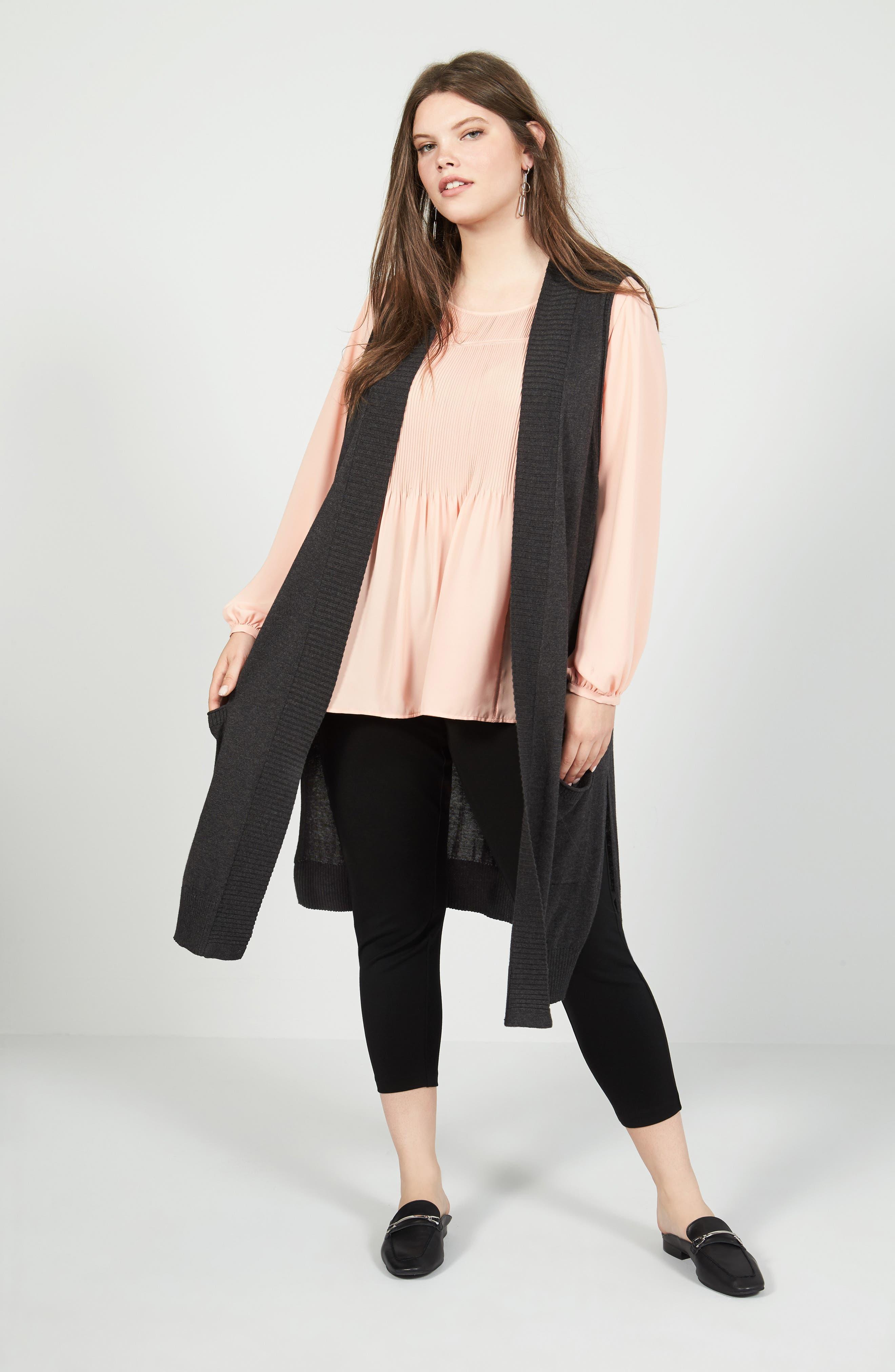 Sejour Vest, Blouse & Leggings Outfit with Accessories (Plus Size)