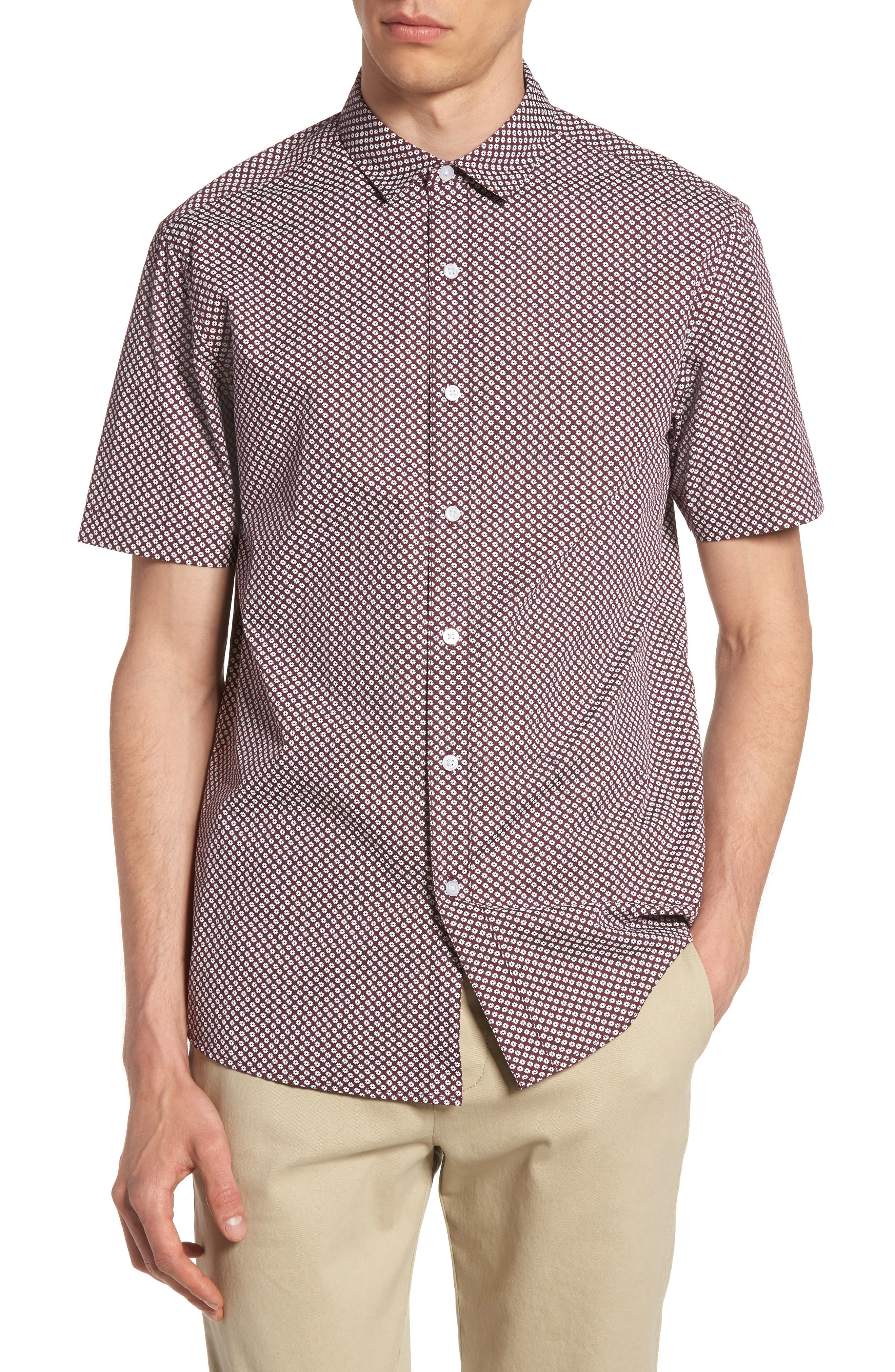 Topman Ditsy Floral Print Shirt