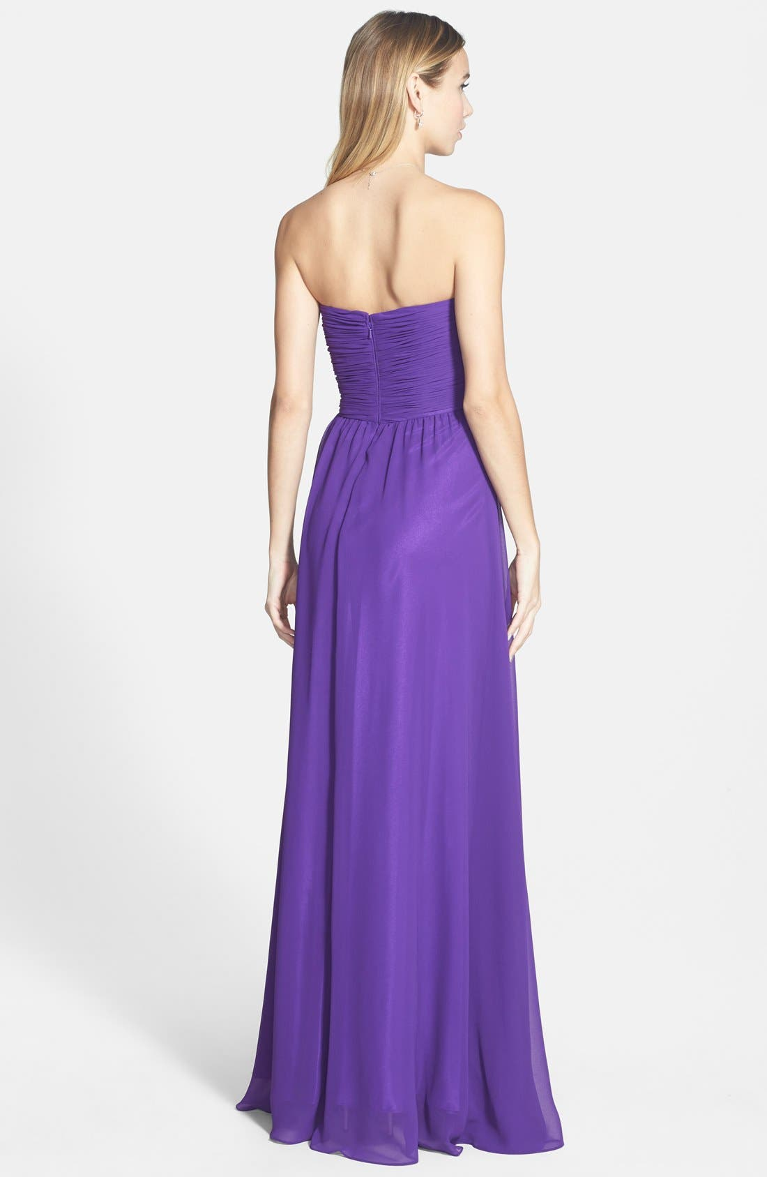 Alternate Image 2  - Faviana Colorblock Chiffon Gown