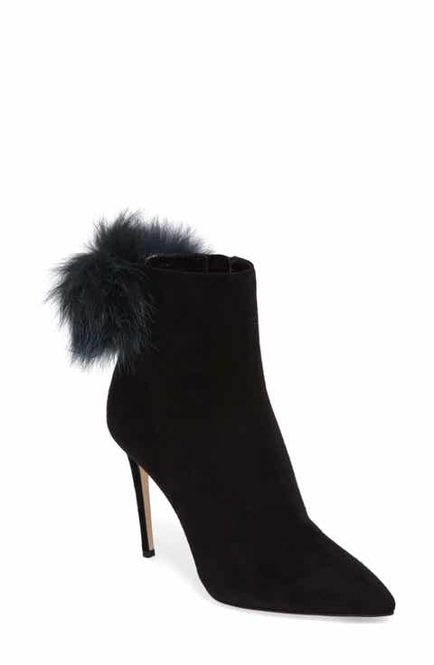Jimmy Choo Tesler Genuine Fox Fur Bootie (Women)