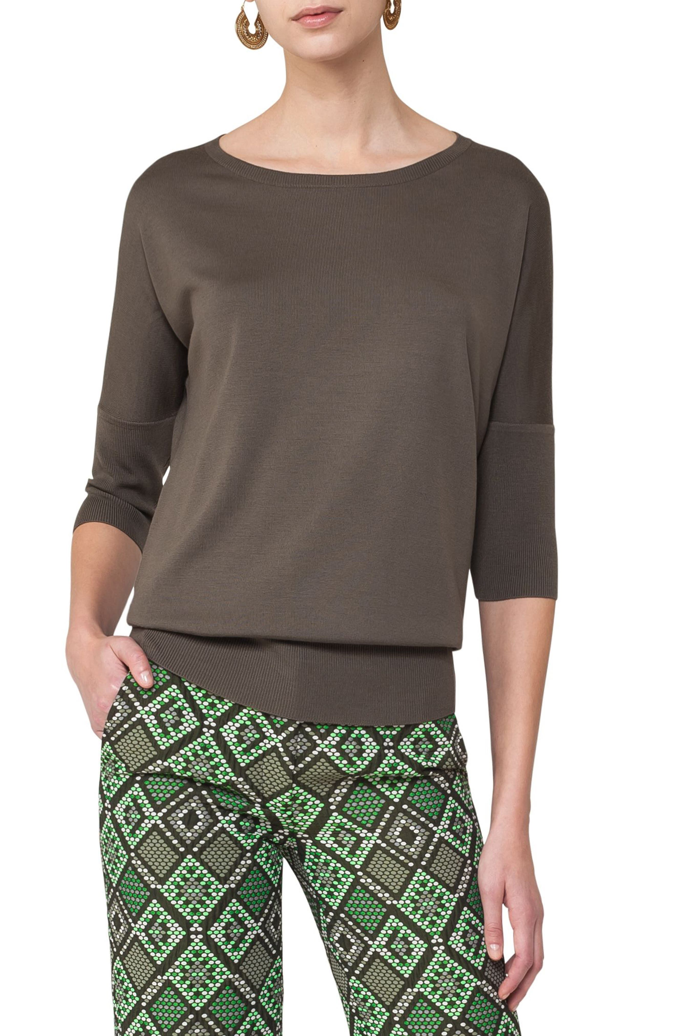 Akris punto Dolman Sleeve Wool Pullover