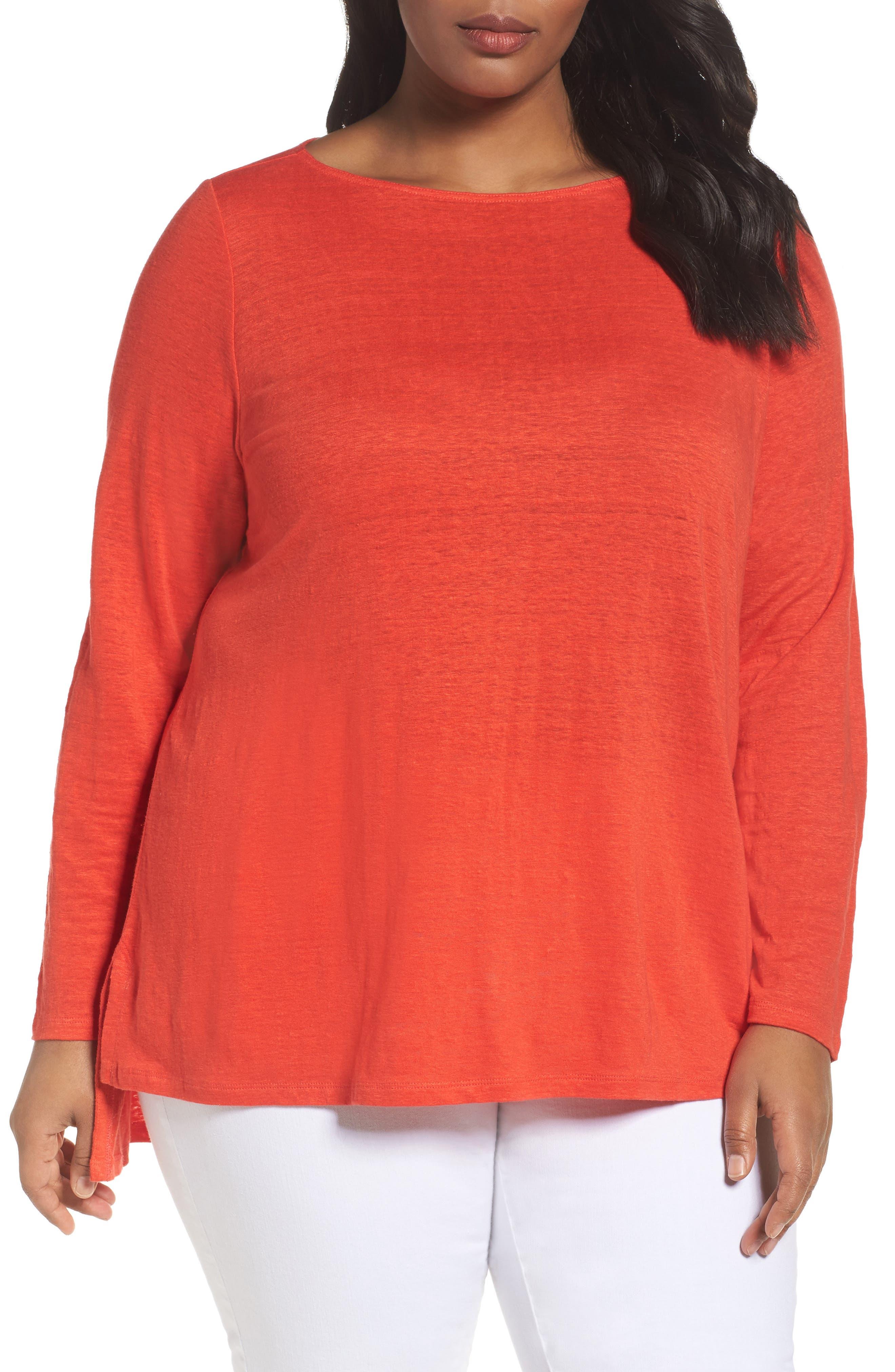 Eileen Fisher Organic Cotton Sweater (Plus Size)
