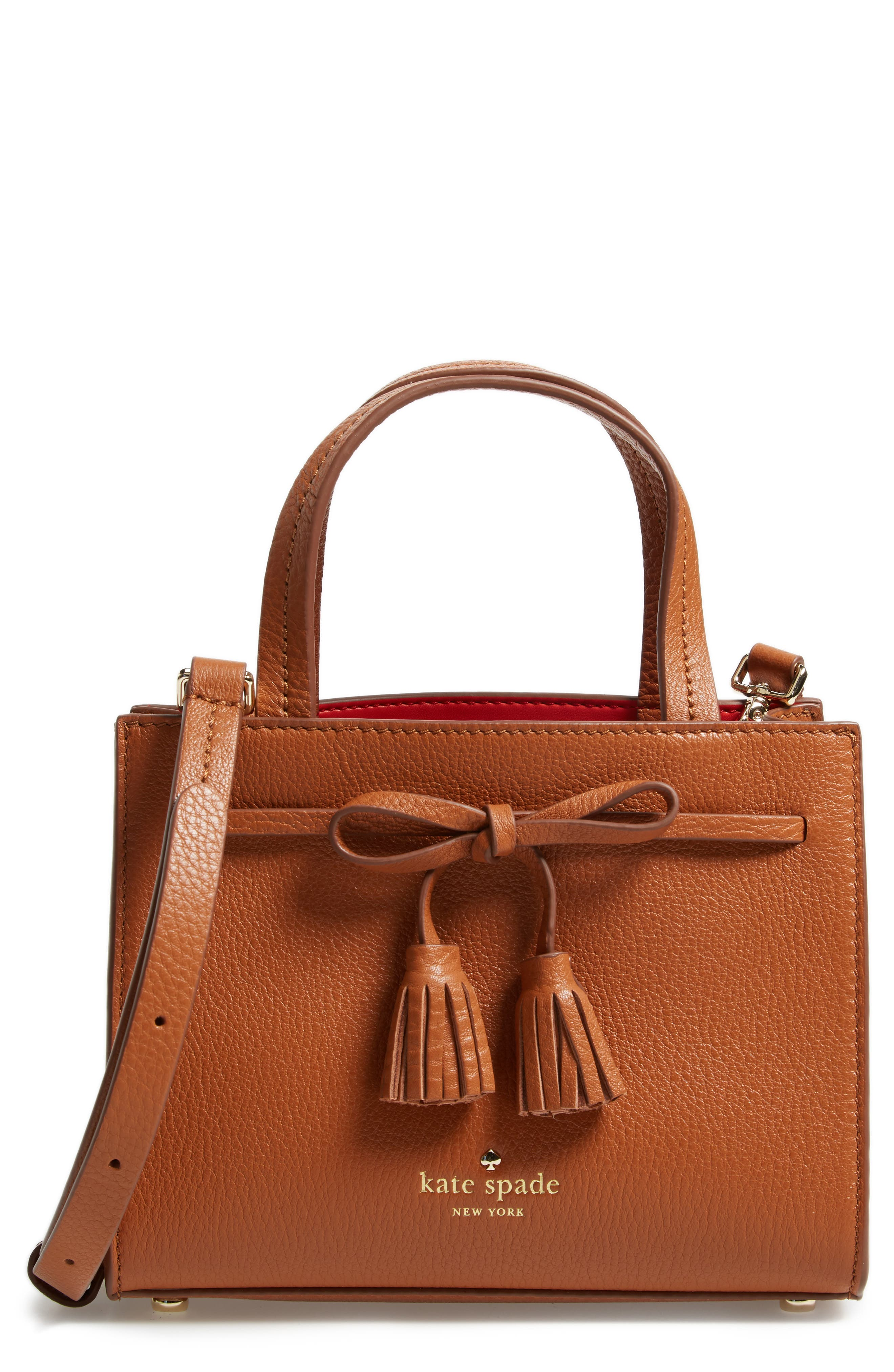 kate spade new york hayes street mini isobel leather satchel