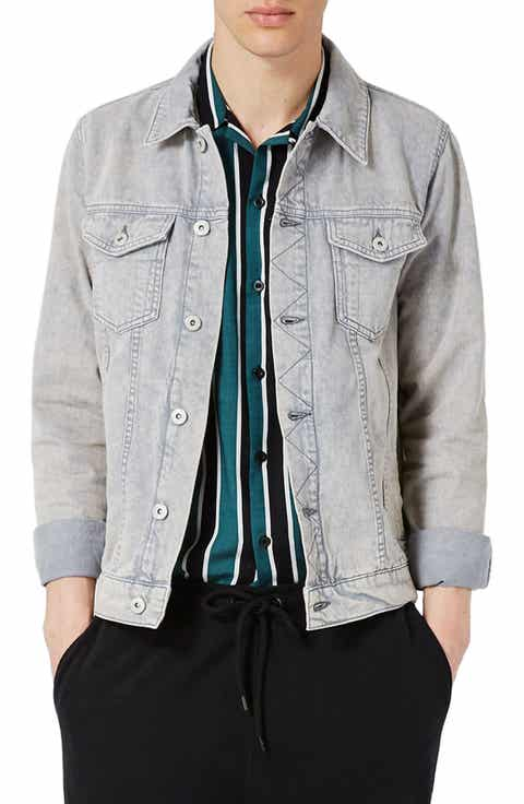 Topman Acid Wash Denim Jacket
