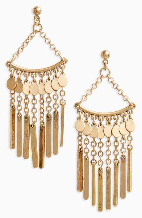 Treasure   Bond Chandelier Earrings