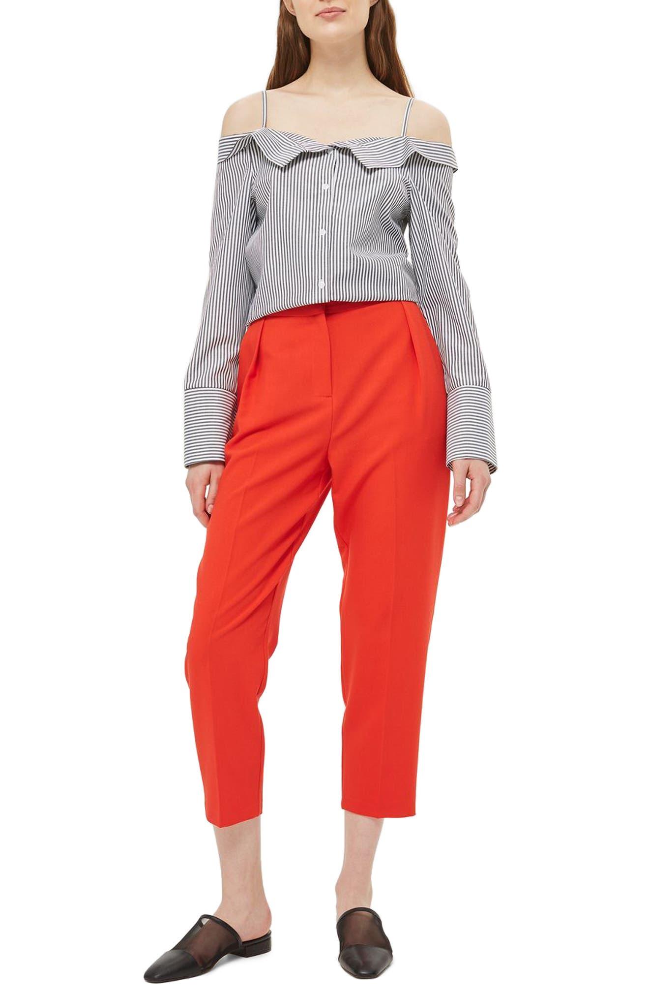 Topshop Bardot Stripe Shirt