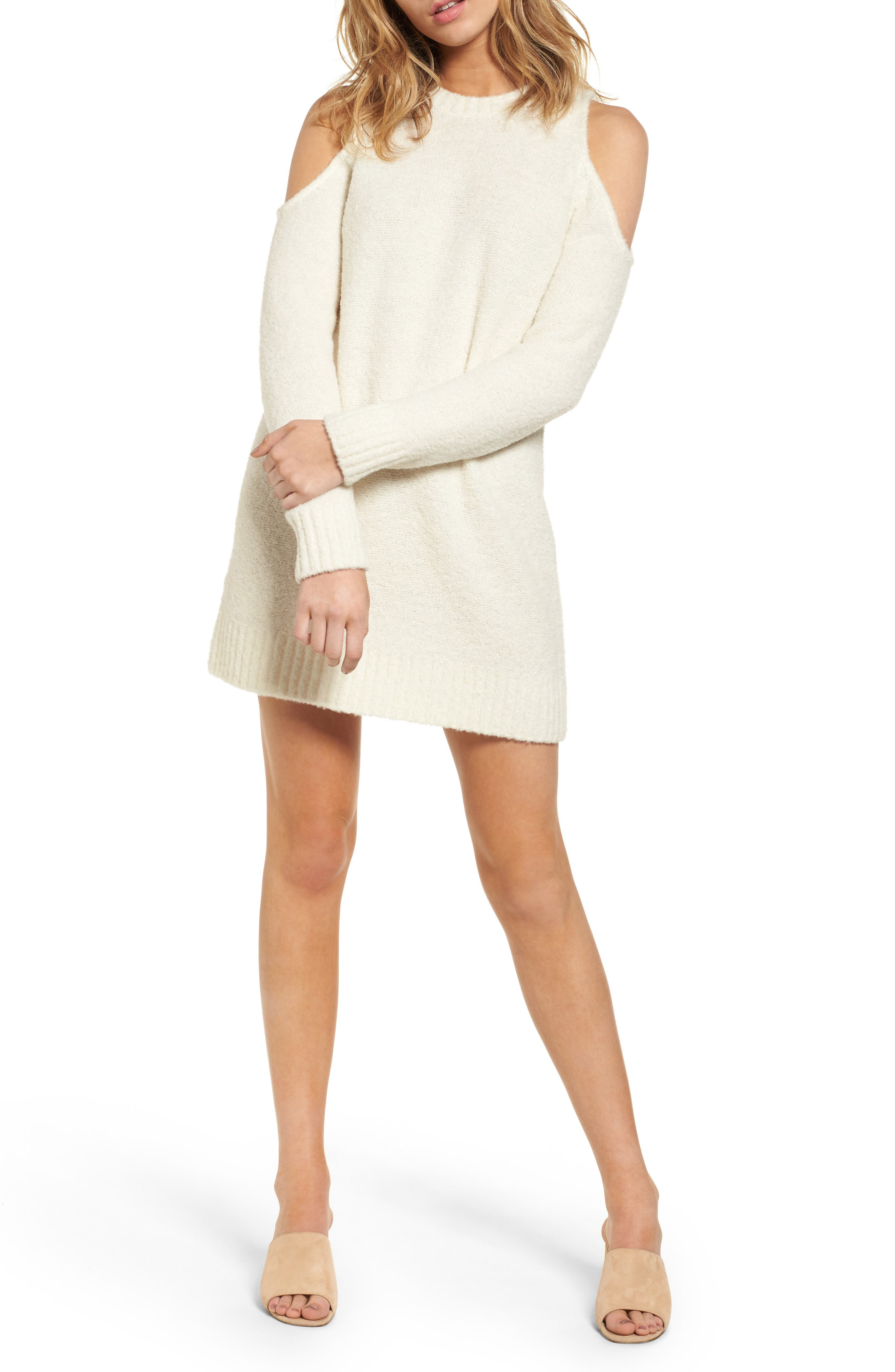 Lovers + Friends Phoenix Cold Shoulder Sweater Dress