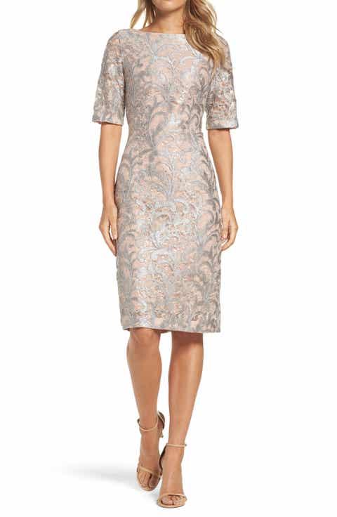 Eliza J Lace Sheath Dress (Regular   Petite)