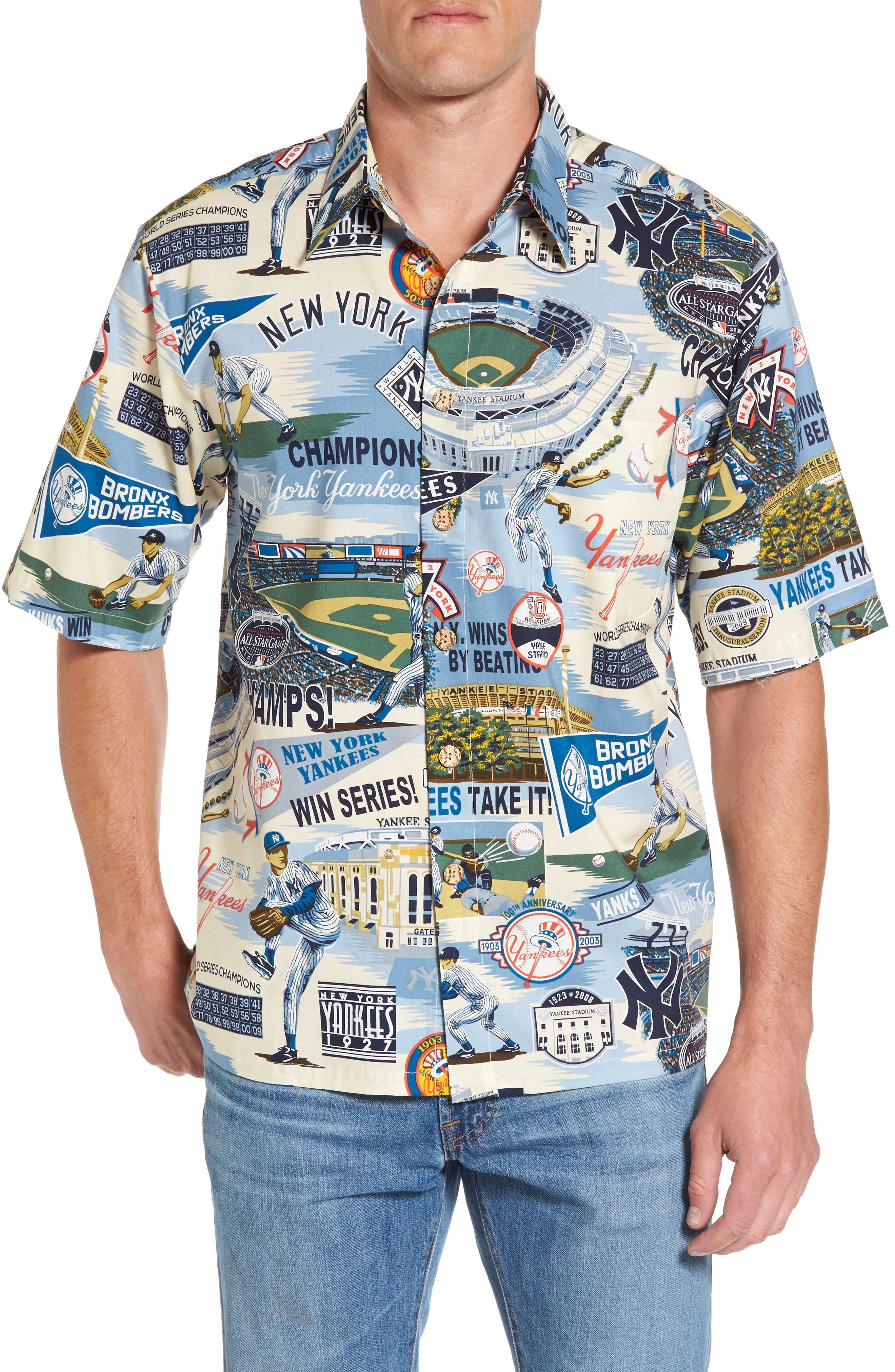 Reyn Spooner New York Yankees Print Camp Shirt
