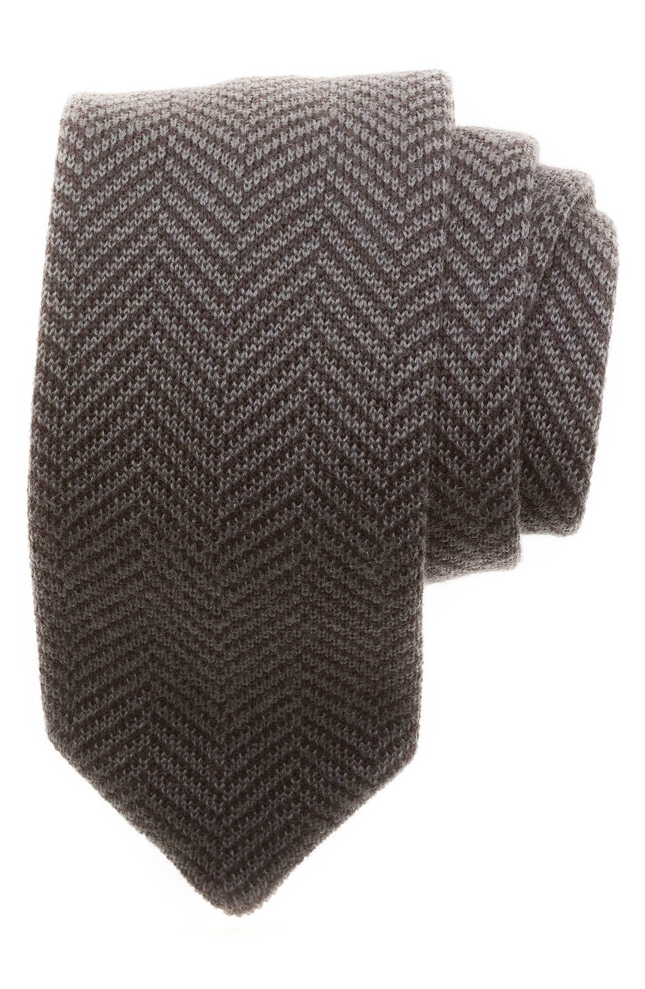 hook + ALBERT Herringbone Knit Wool Tie