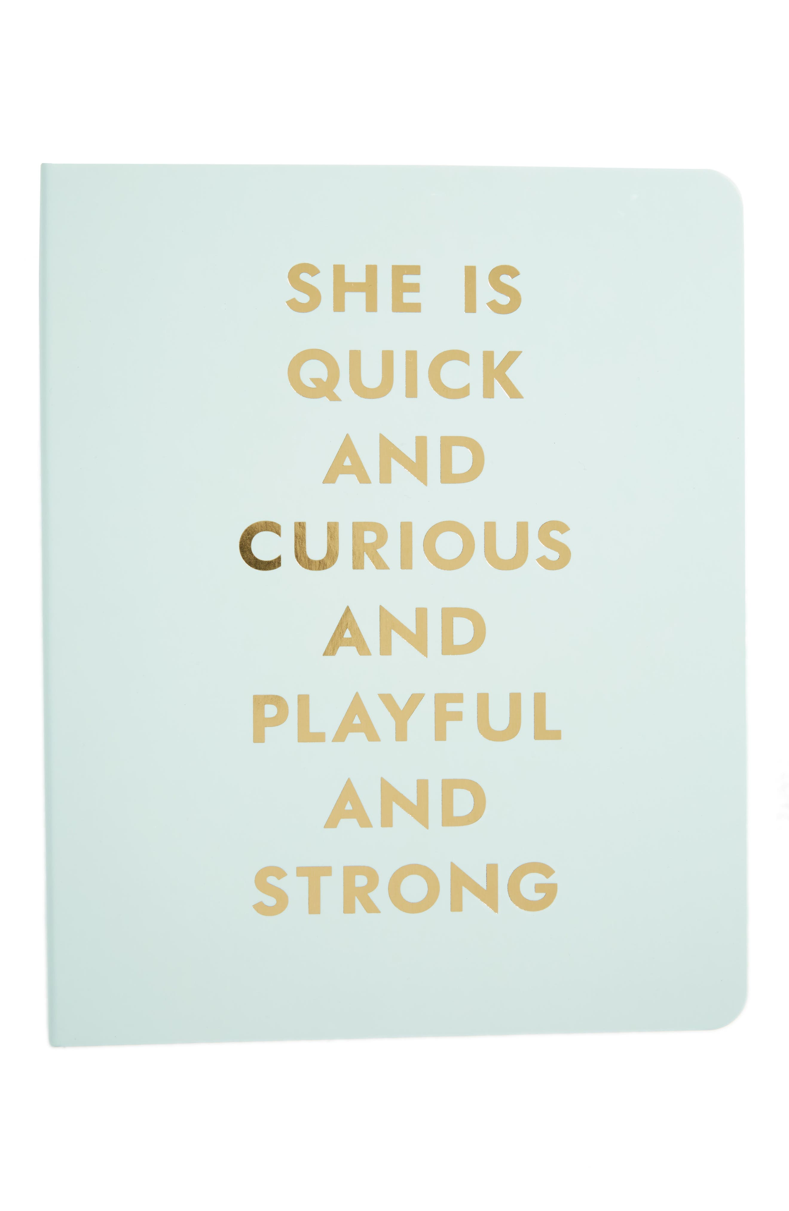 Alternate Image 1 Selected - kate spade new york she is quick and curious spiral notebook