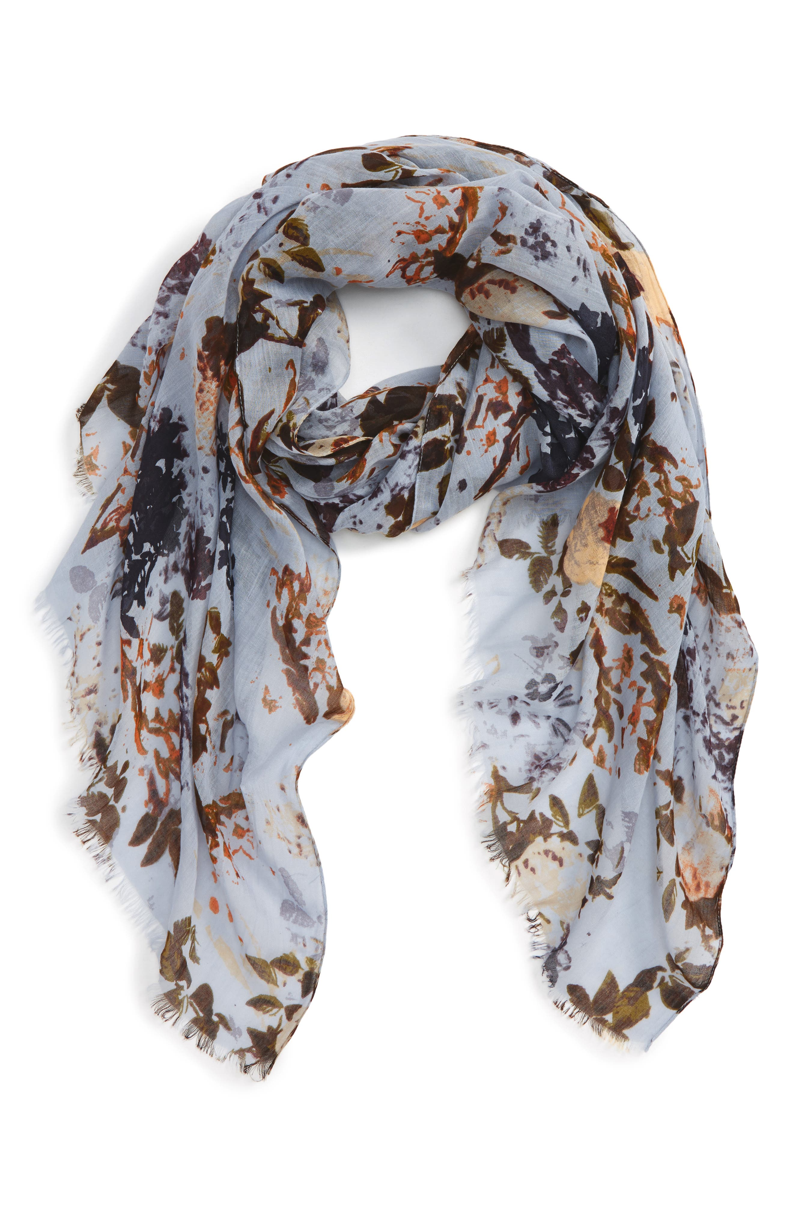 Sole Society Whimsical Floral Scarf