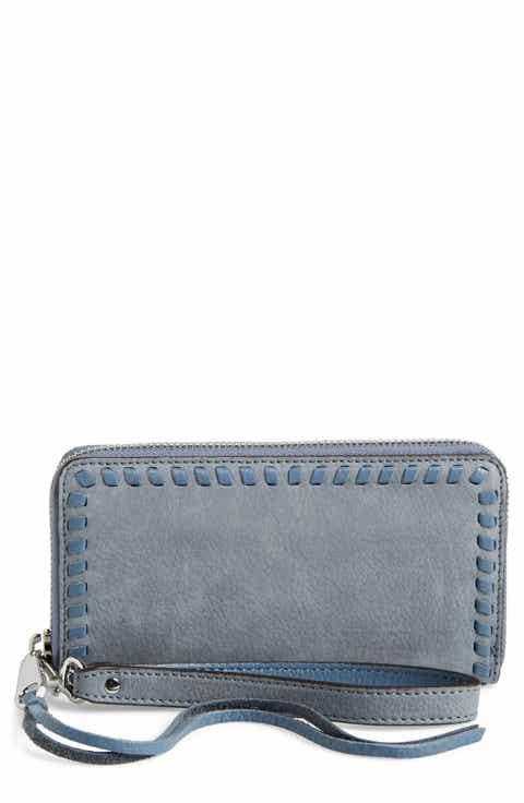 Rebecca Minkoff Vanity Nubuck Leather Phone Wallet