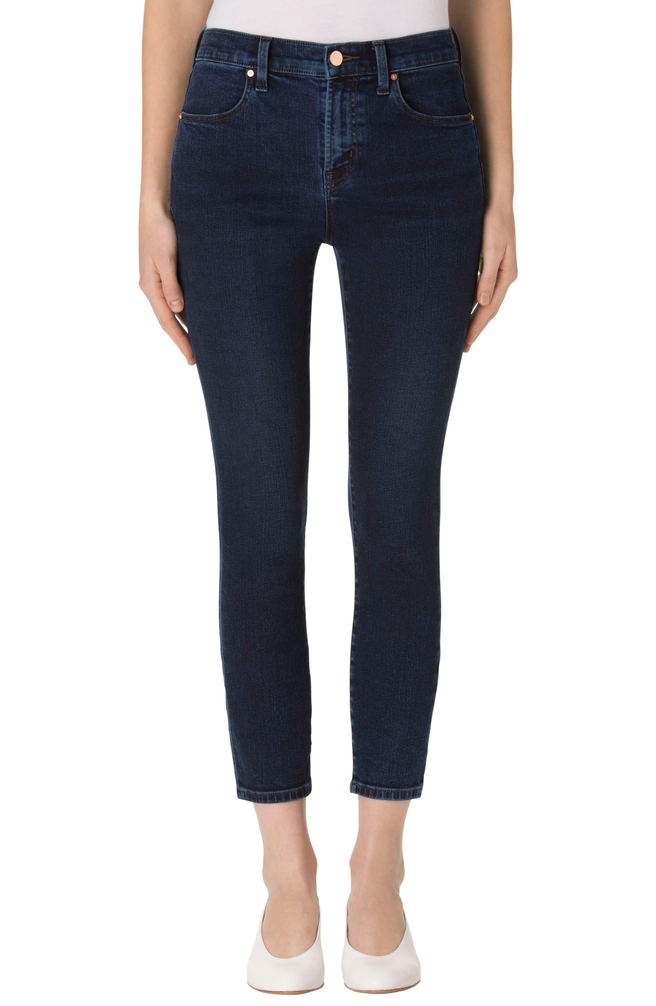 J Brand Alana High Waist Crop Skinny Jeans (Throne)