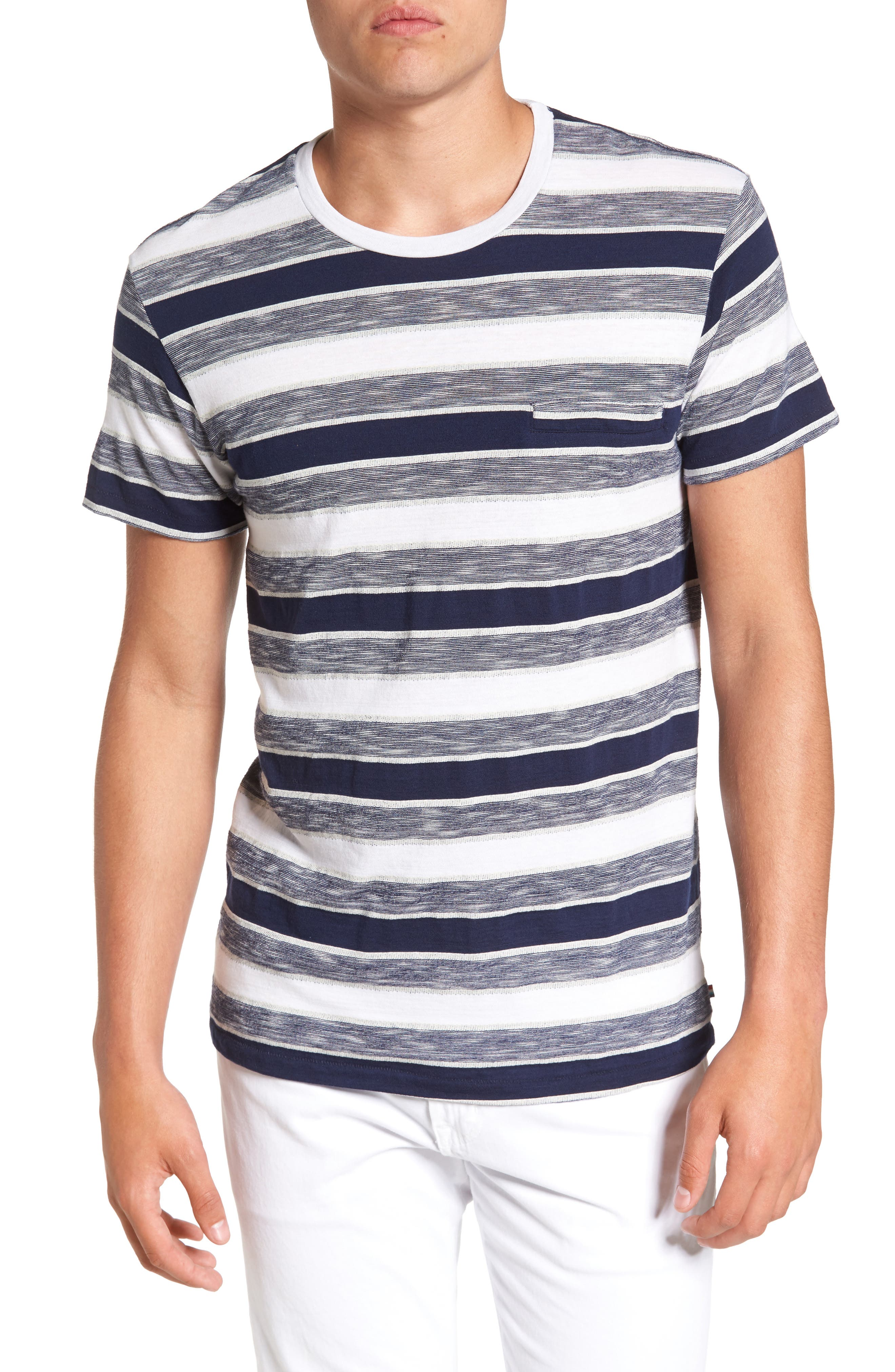 Sol Angeles Tahoe Stripe Pocket T-Shirt