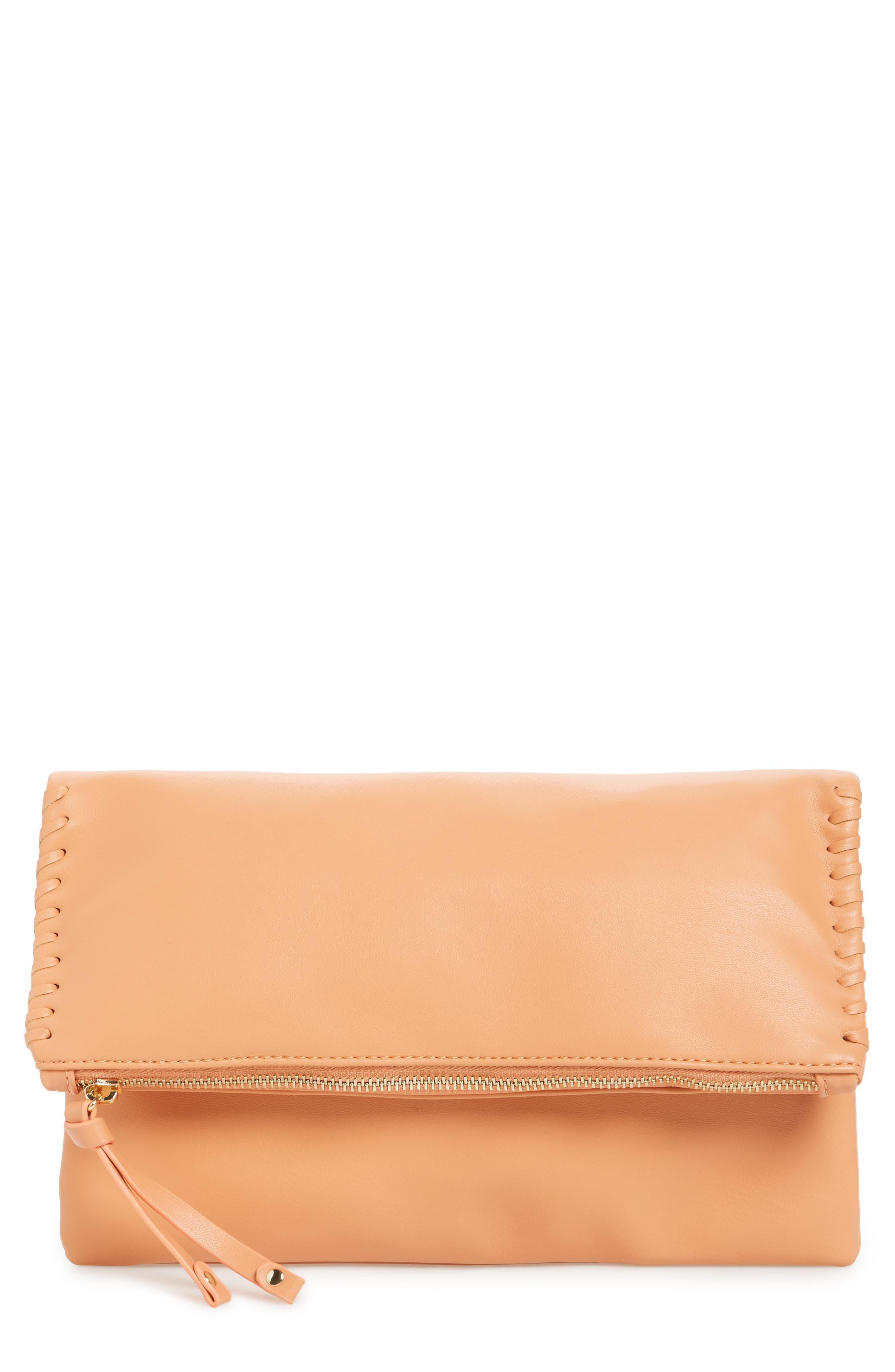 Sole Society Rifkie Faux Leather Foldover Clutch