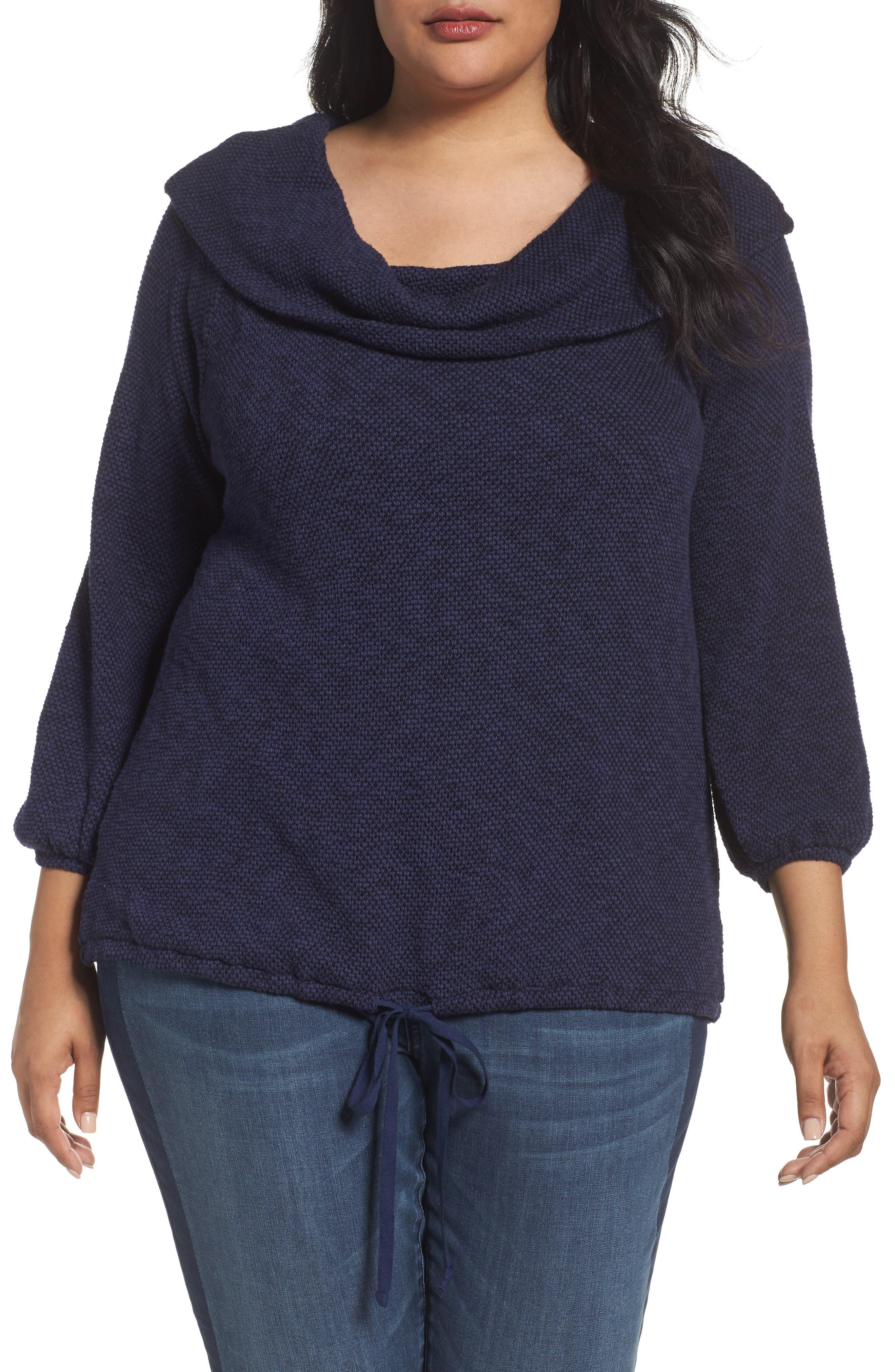 Caslon® Off the Shoulder Sweater (Plus Size)