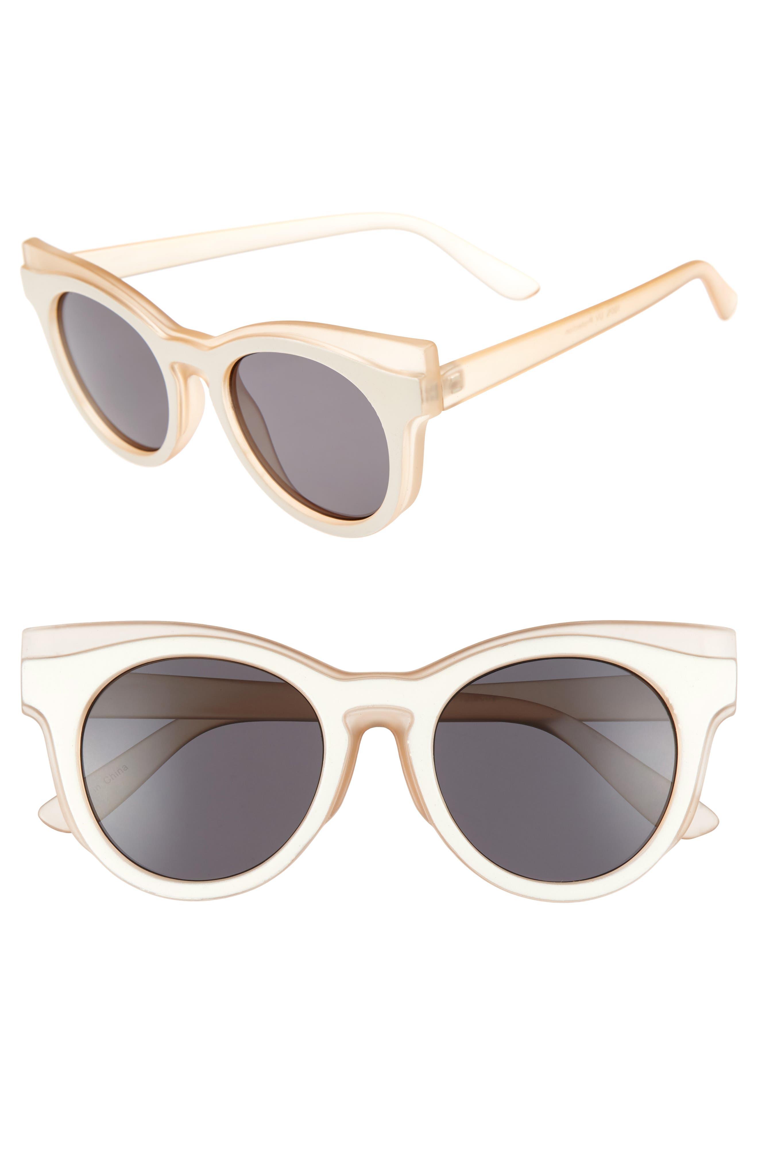 BP. 50mm Two Tone Round Lens Sunglasses