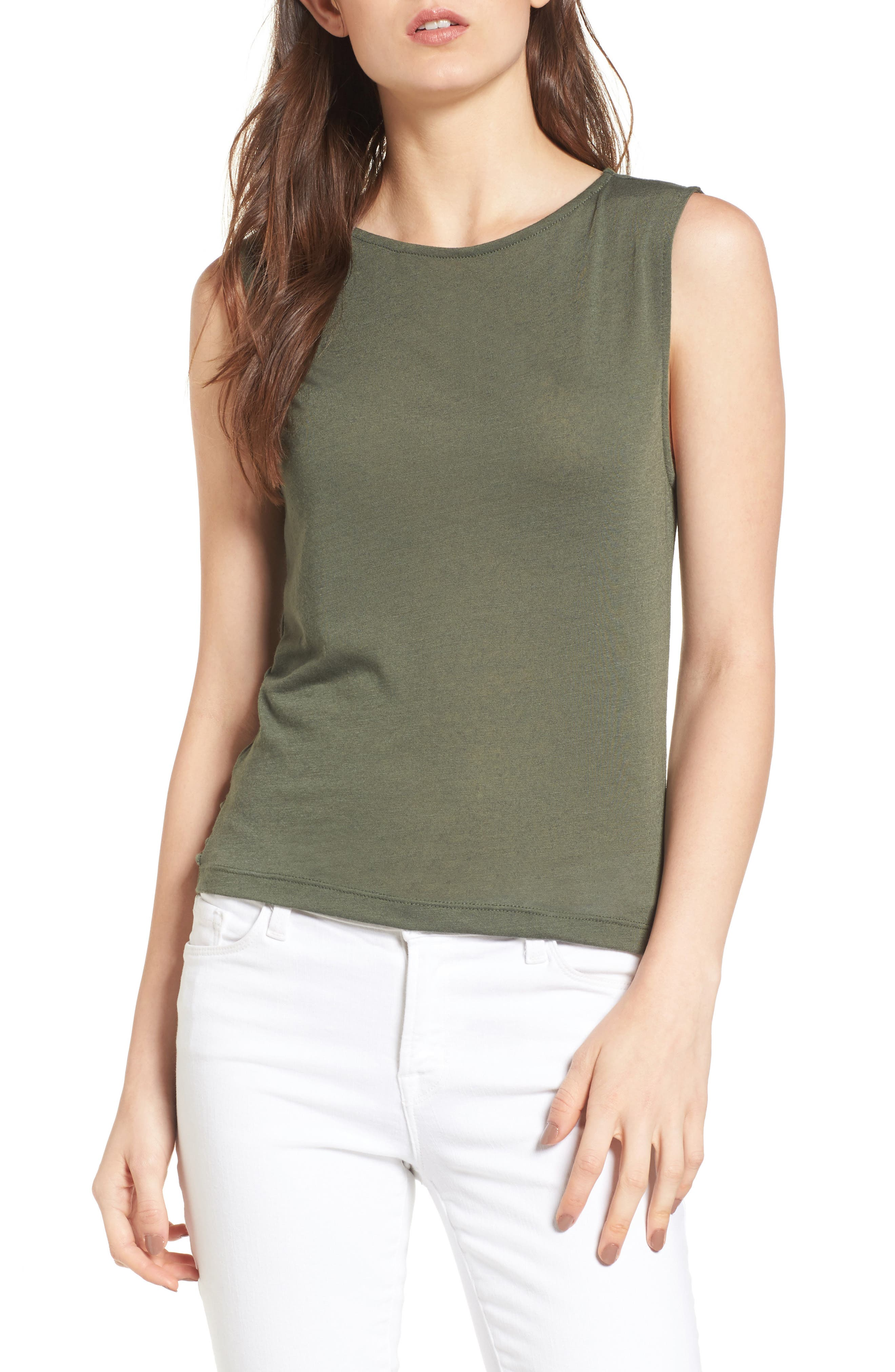 cupcakes and cashmere Maxton Twist Back Tank