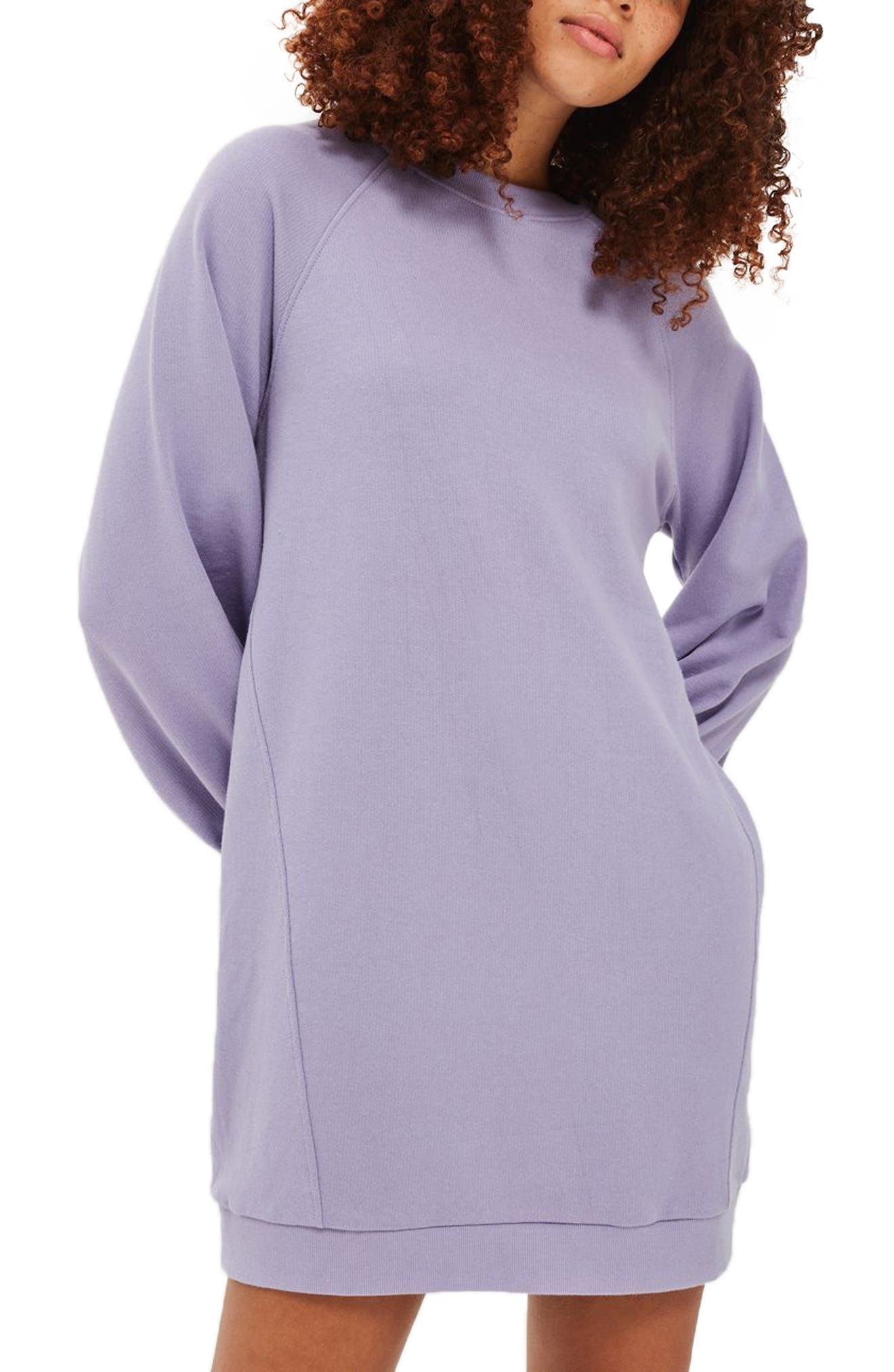 Topshop Balloon Sleeve Sweatshirt Dress