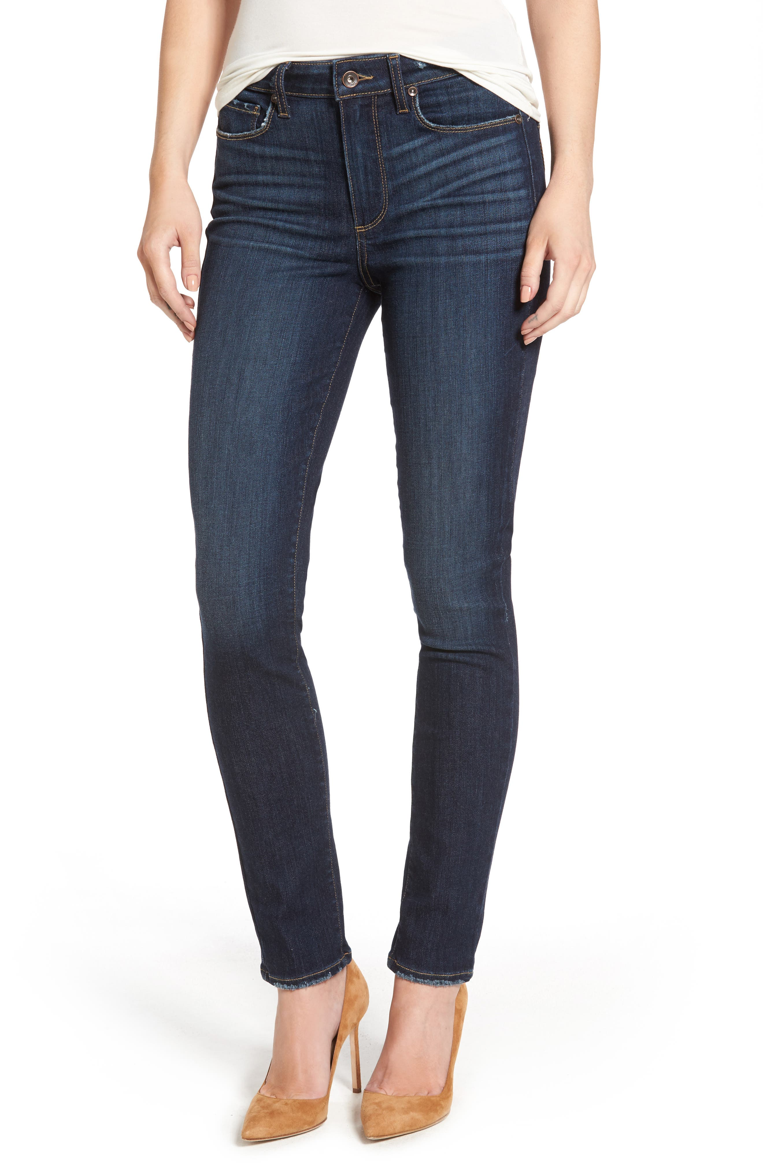 PAIGE Hoxton High Waist Ankle Skinny Jeans (Revere)