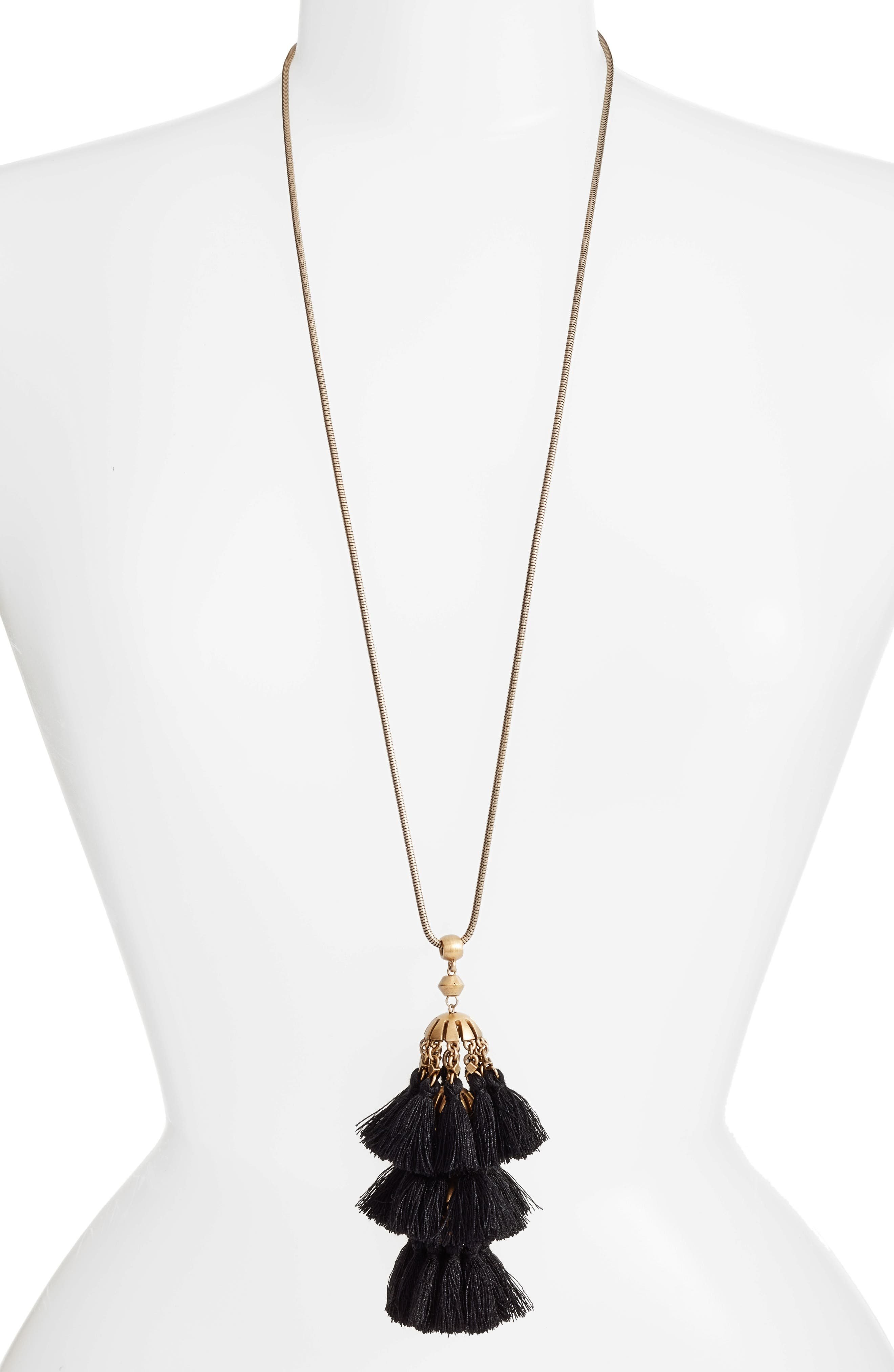 Loren Hope Audrey Tassel Pendant Necklace