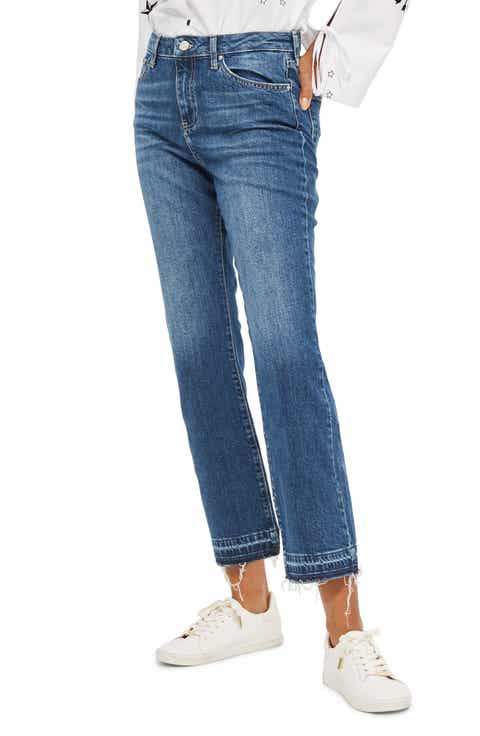 Topshop Dree Released Hem Flare Jeans - Flare Jeans For Women: Slim, Stretch & Ultra Flare Nordstrom