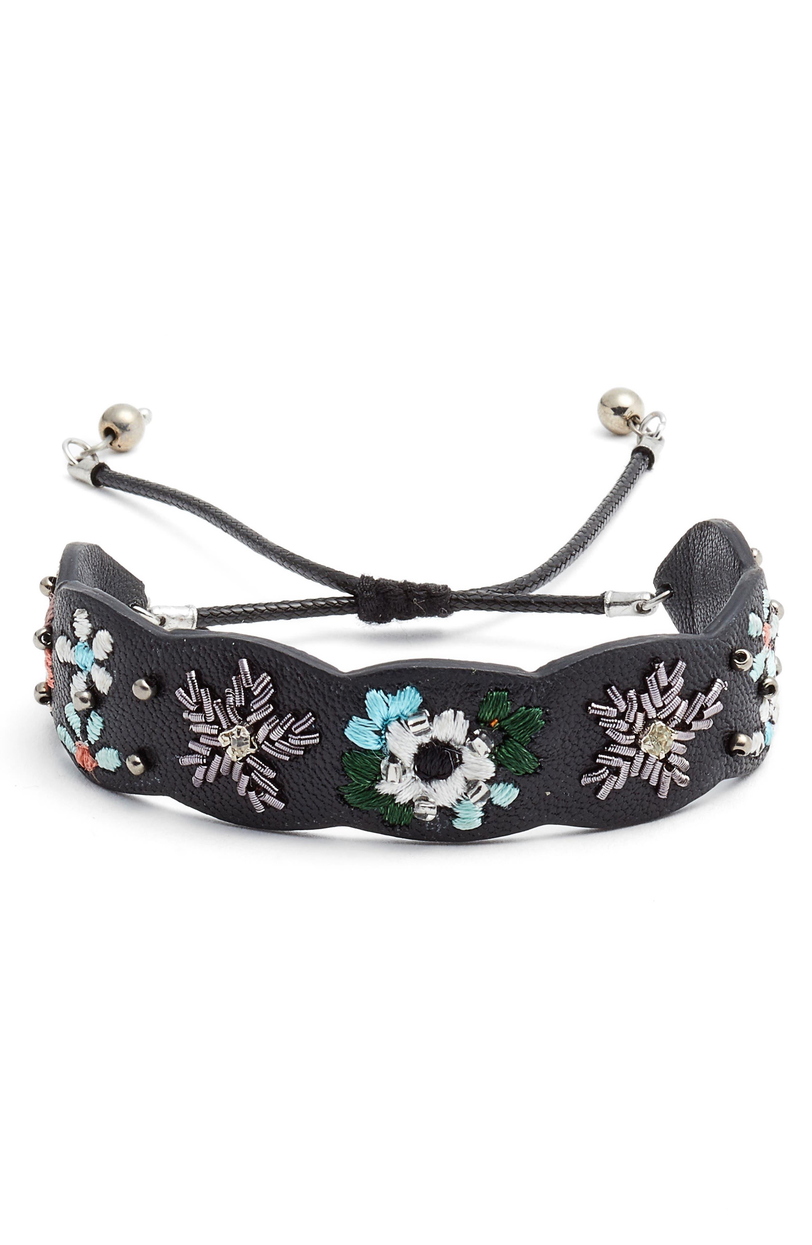 Rebecca Minkoff Floral Guitar Strap Bracelet