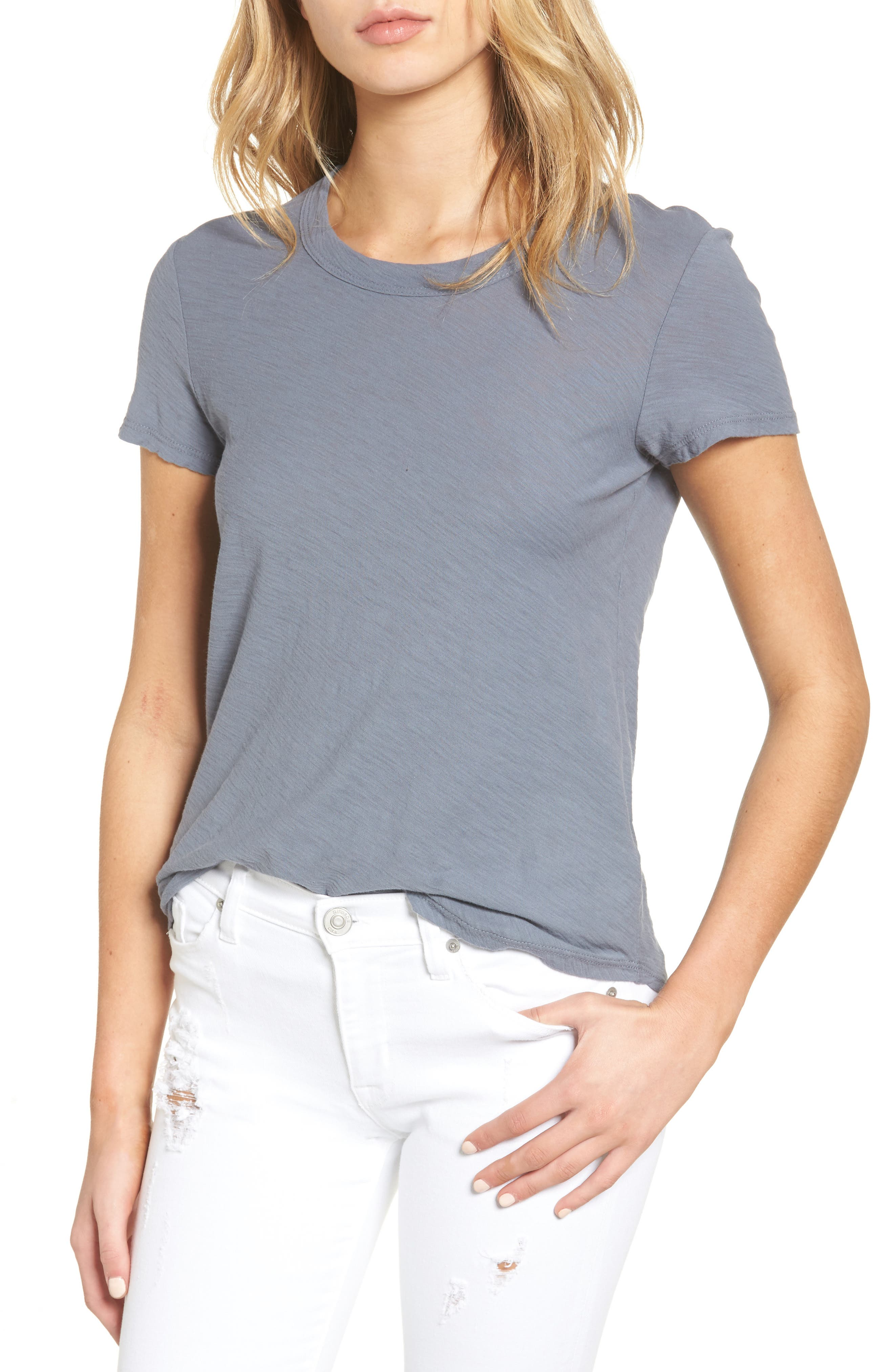 James Perse Sheer Slub Crewneck Tee