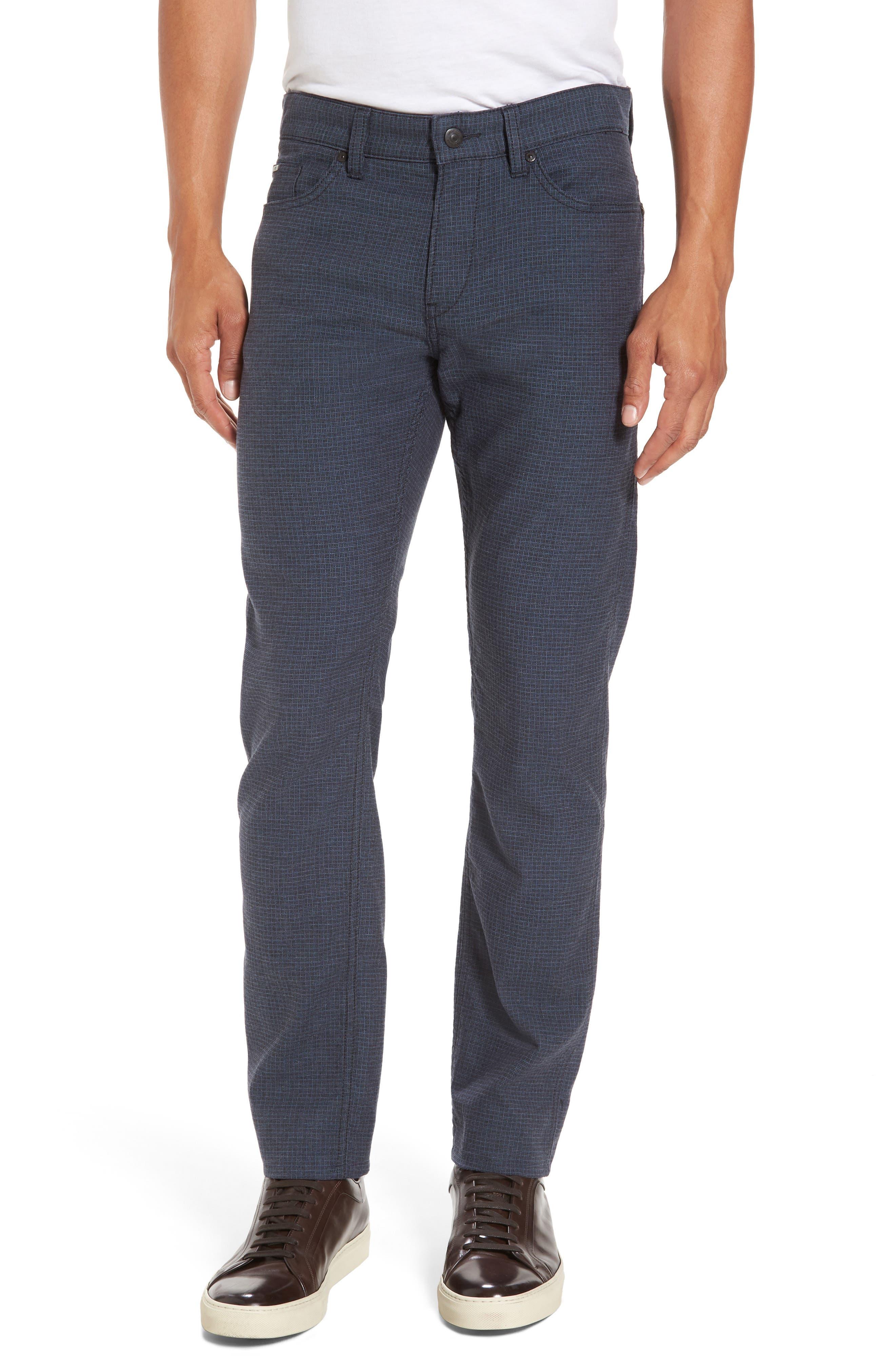 BOSS Delaware Microcheck Slim Fit Pants