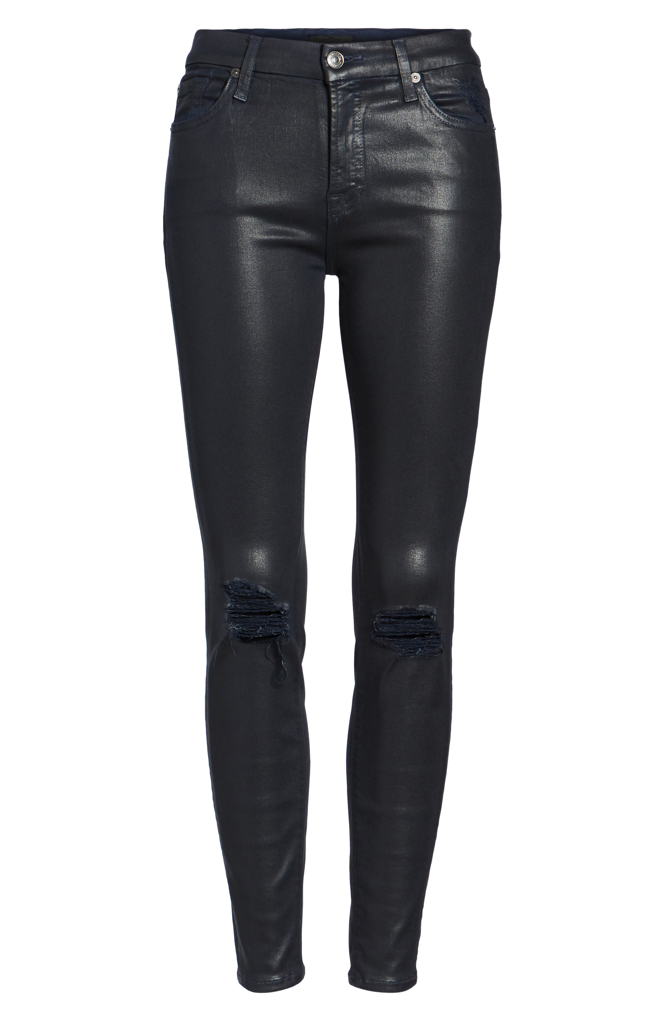 Alternate Image 6  - 7 For All Mankind® Coated Ankle Skinny Jeans
