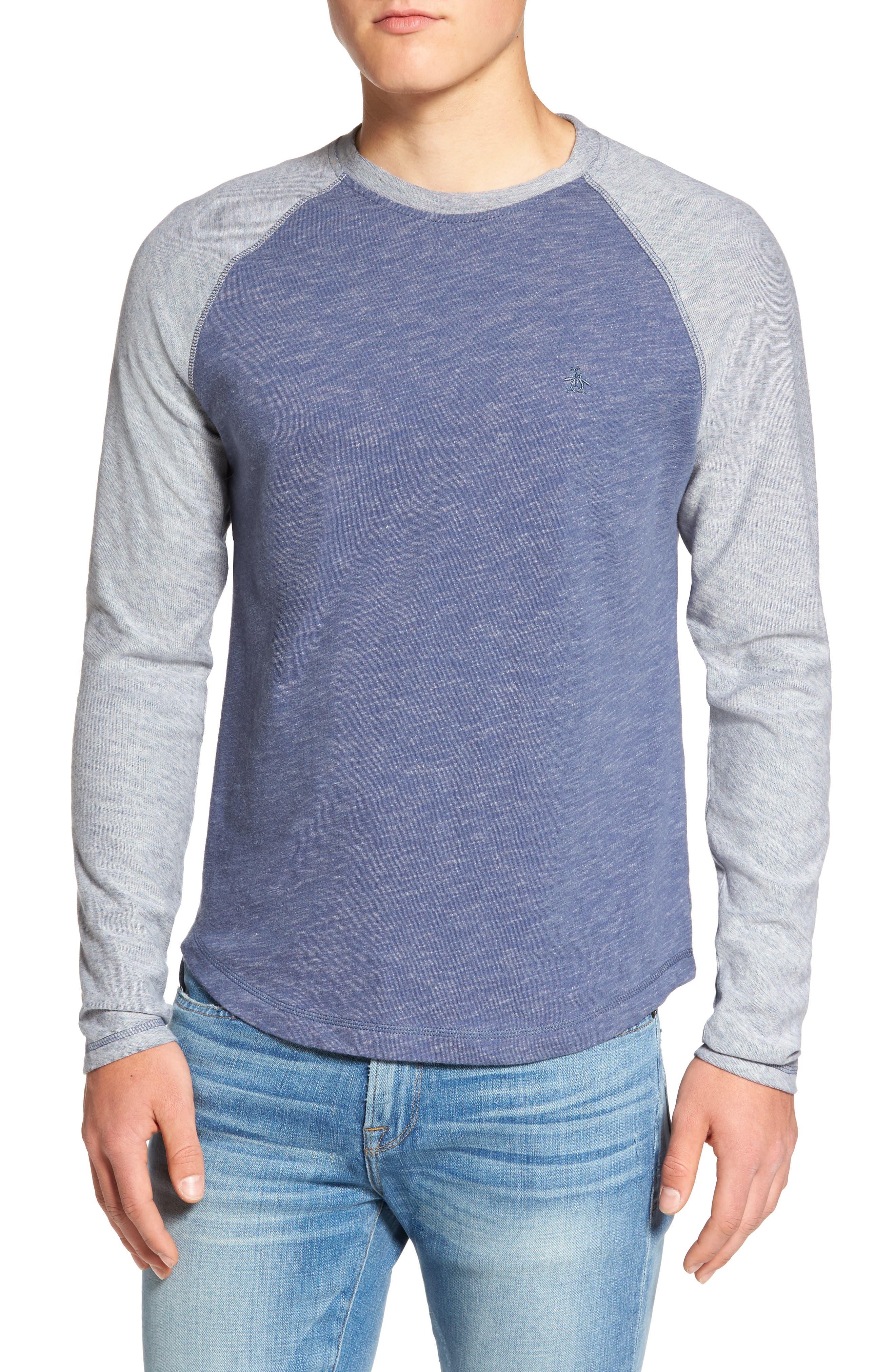 Original Penguin Raglan Long Sleeve T-Shirt