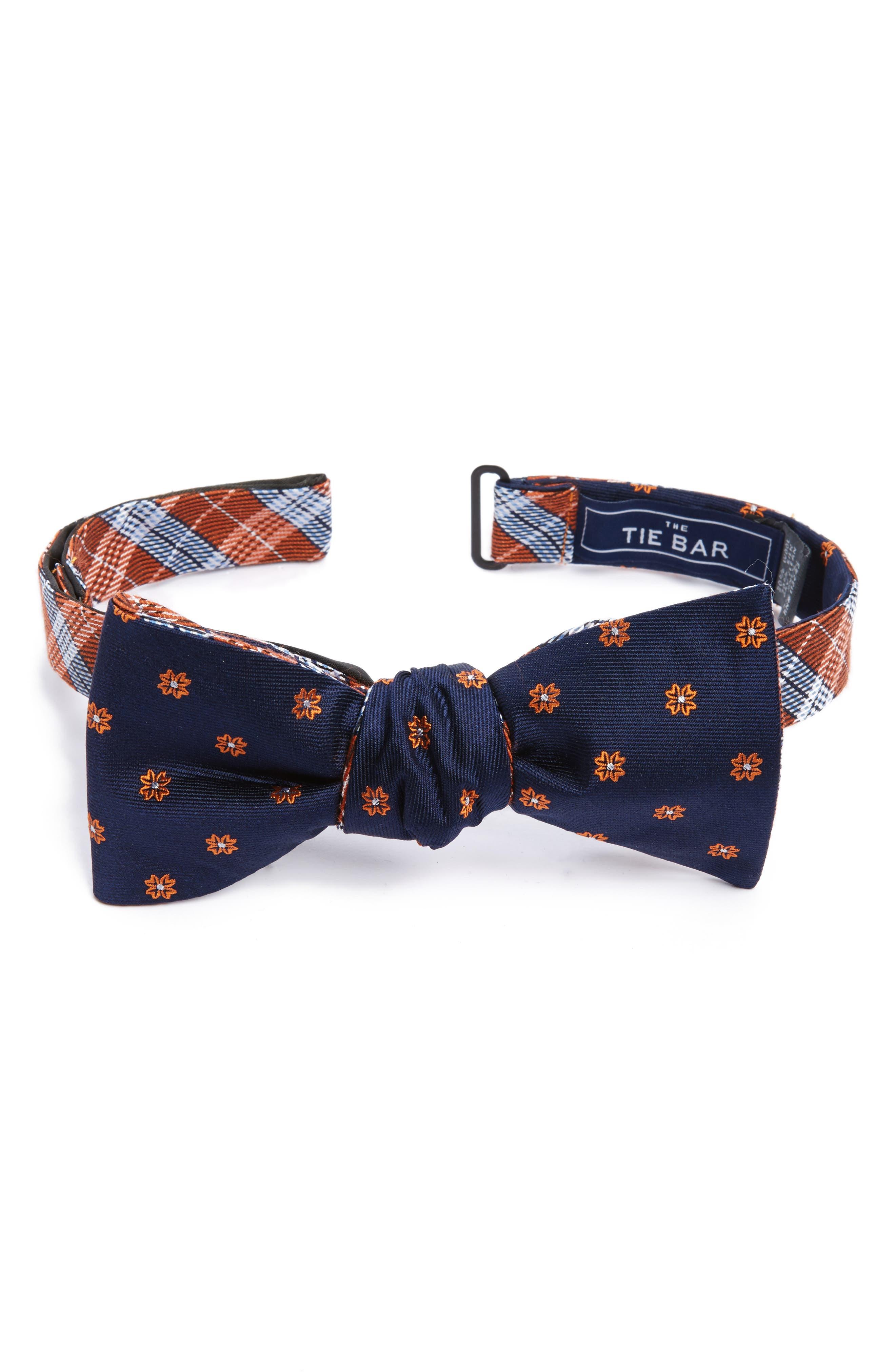 The Tie Bar Emerson Reversible Silk Bow Tie