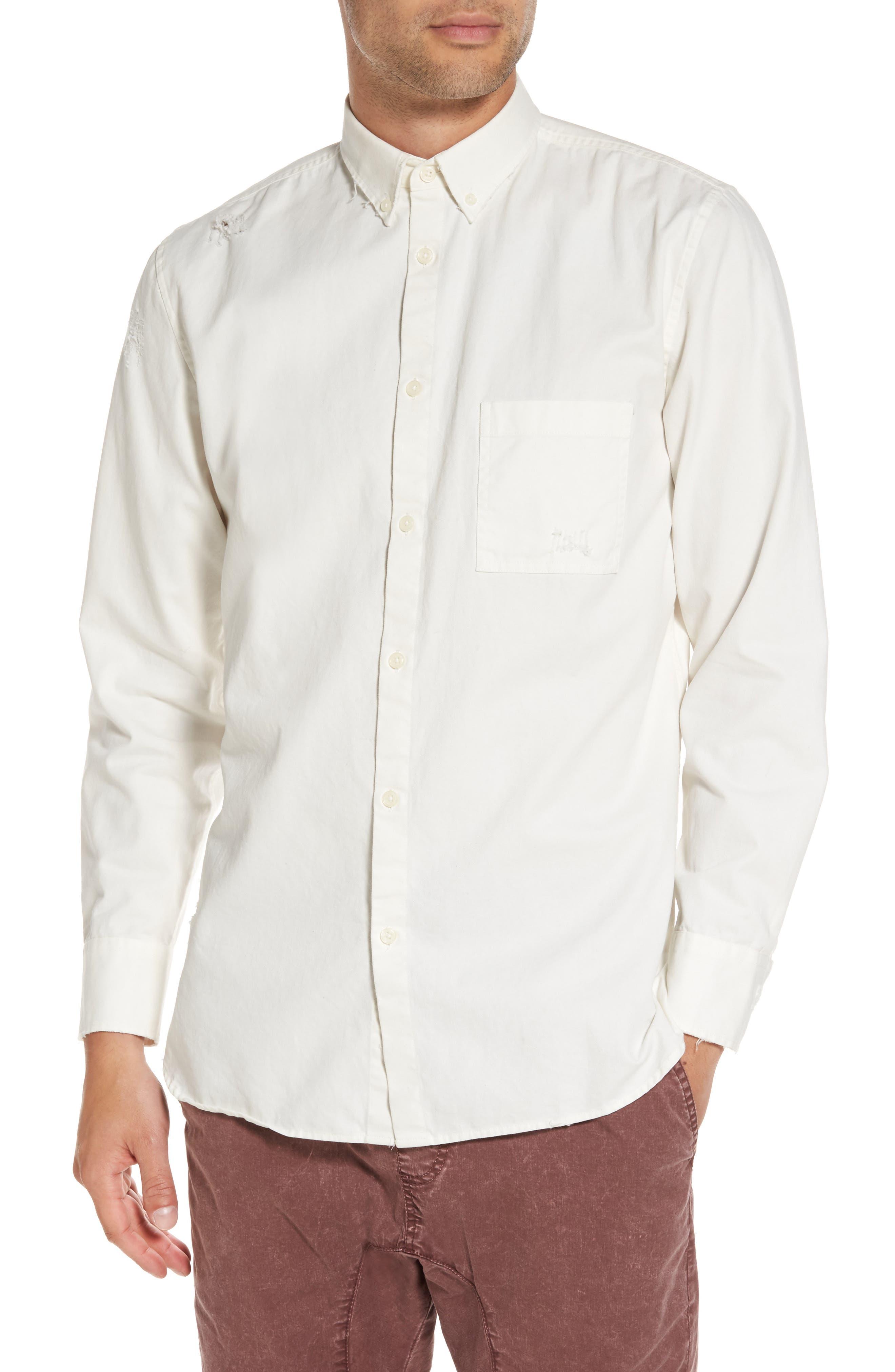 ZANEROBE Distressed Button-Down Shirt
