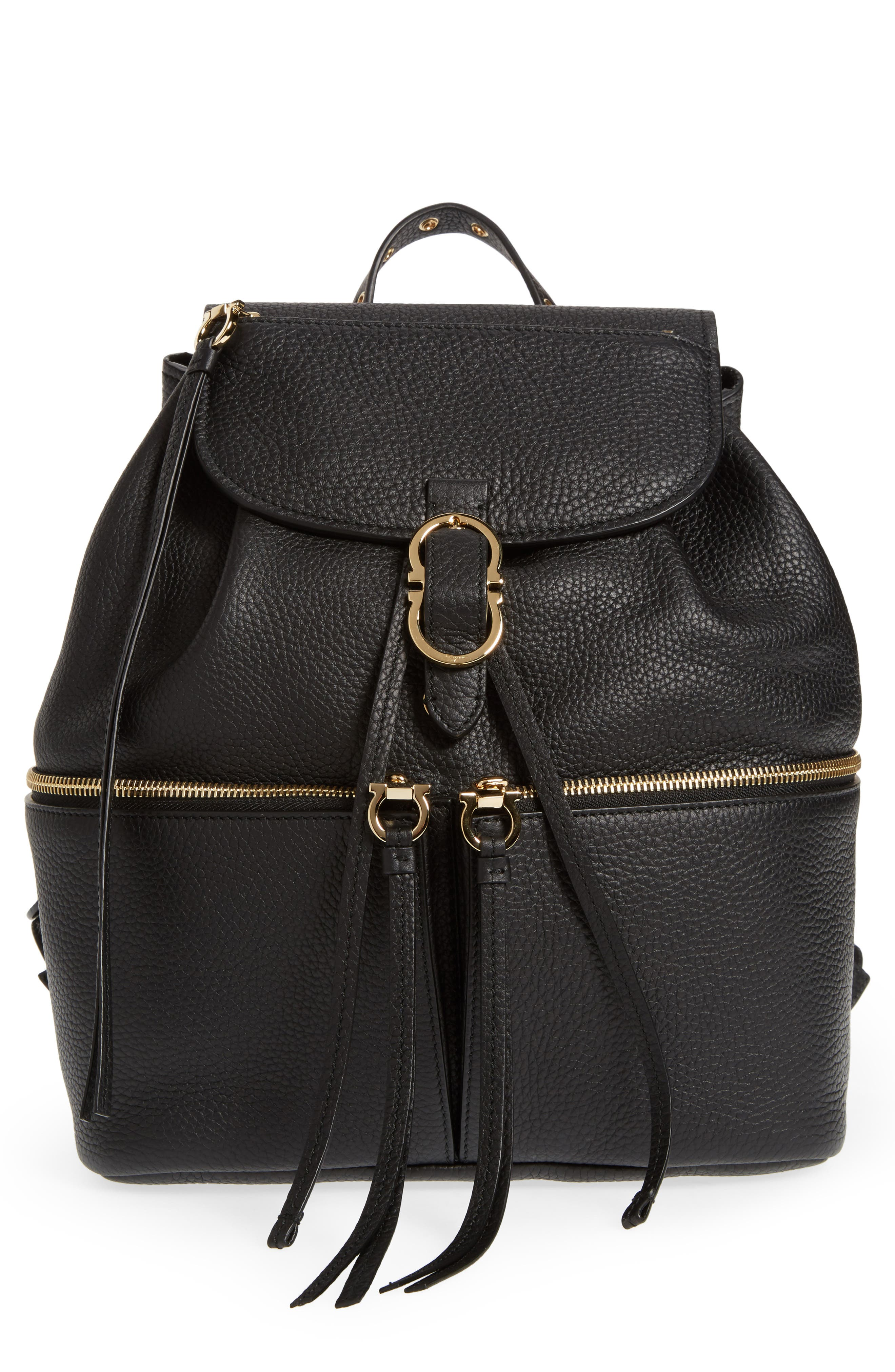 Salvatore Ferragamo Carol Calfskin Backpack