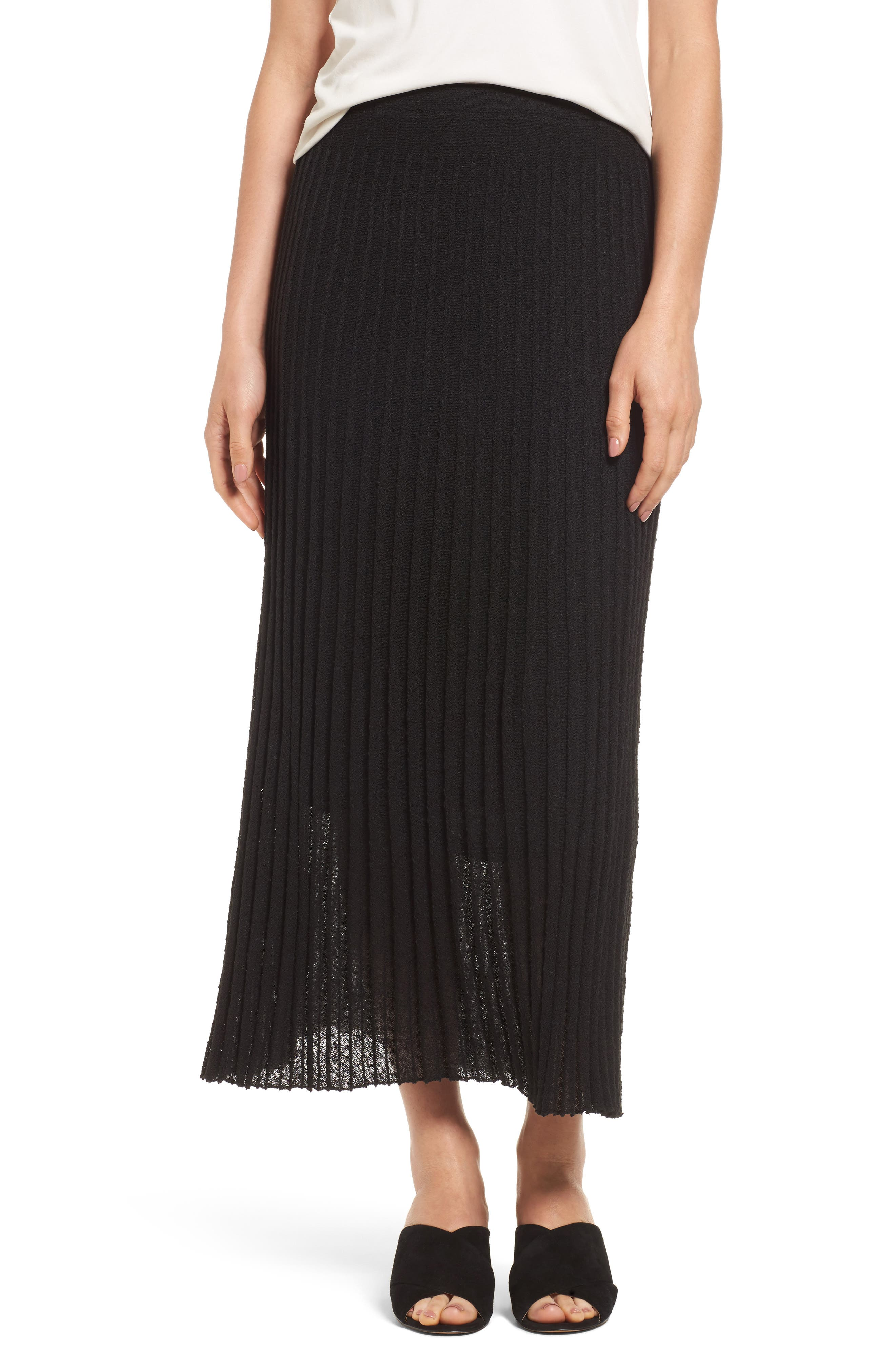 NIC+ZOE Pleat Knit Maxi Skirt