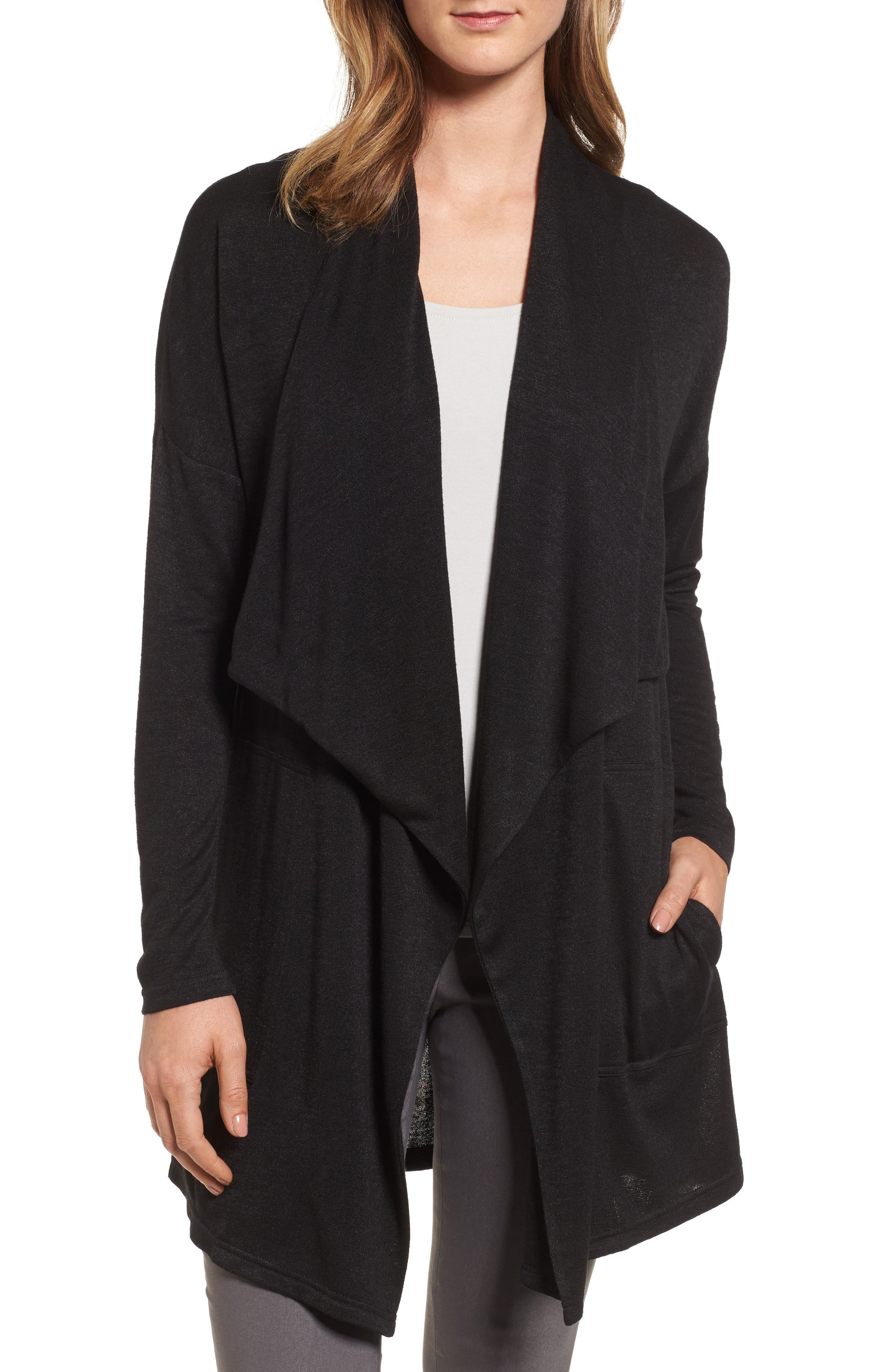 NIC+ZOE Every Occasion Drape Front Jacket