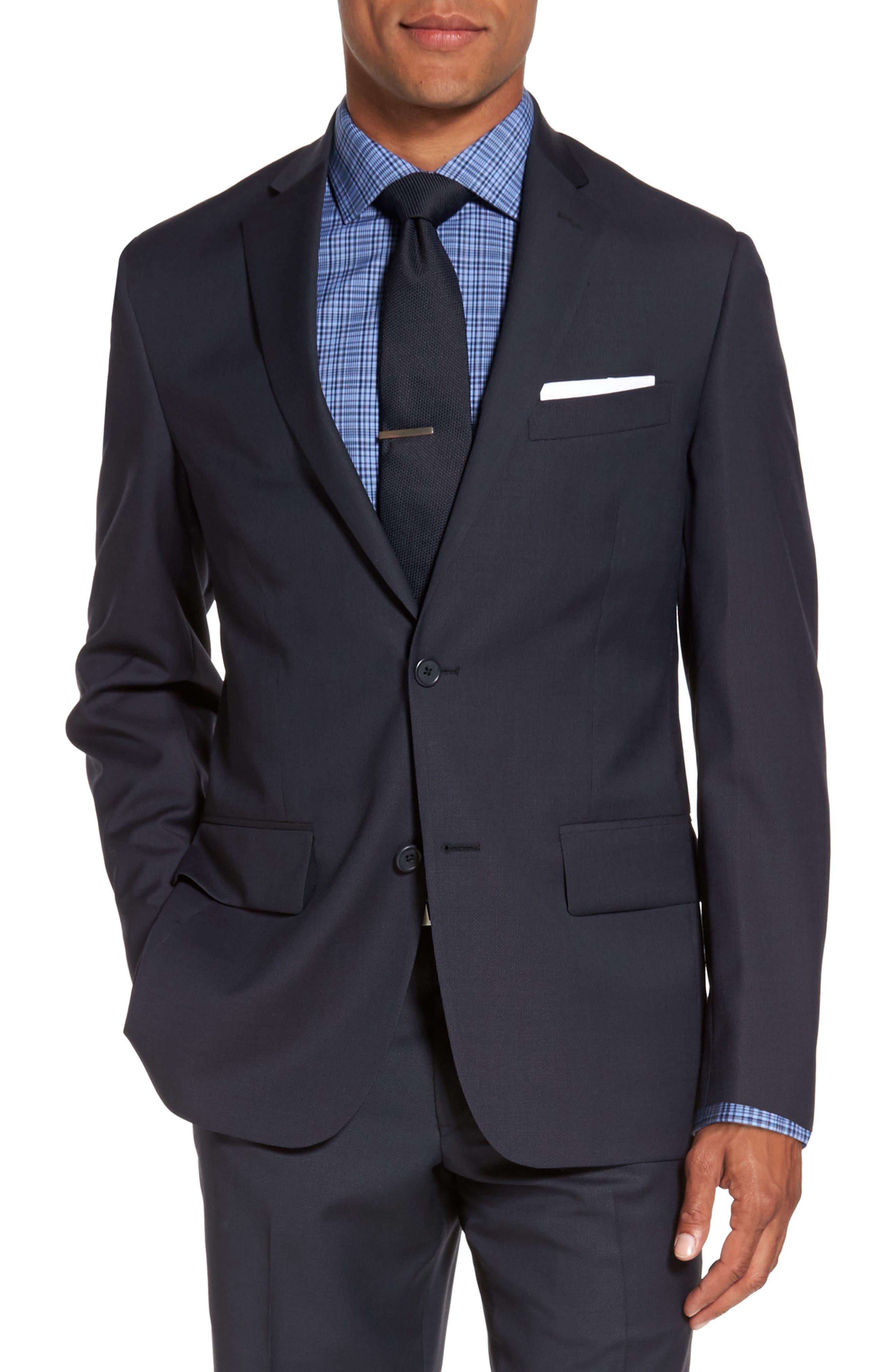 Nordstrom Men's Shop Classic Fit Tonal Check Wool Suit Jacket (Big & Tall)