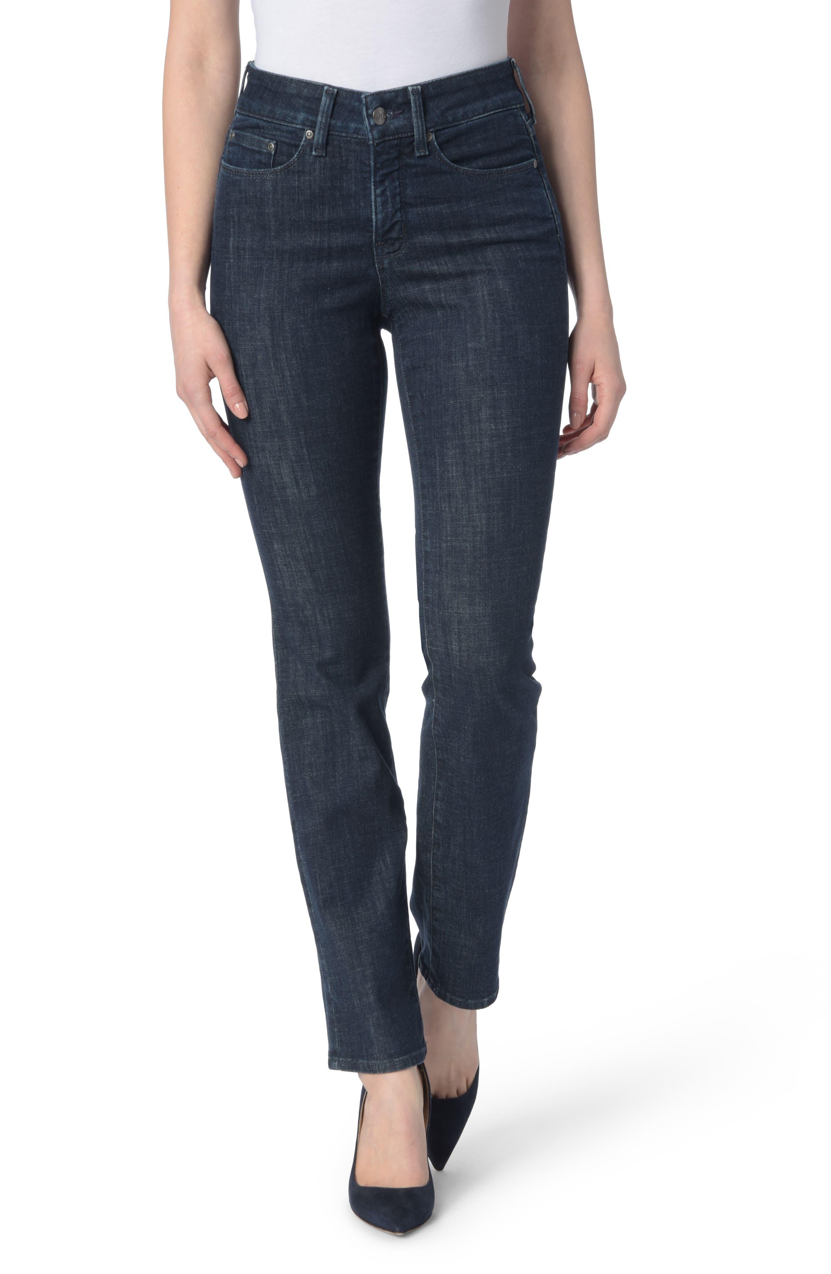NYDJ Marilyn Stretch Straight Leg Jeans (Rambard)