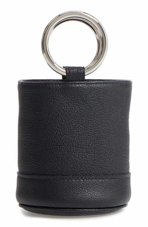 Simon Miller Bonsai Pebbled Leather Crossbody Bucket Bag