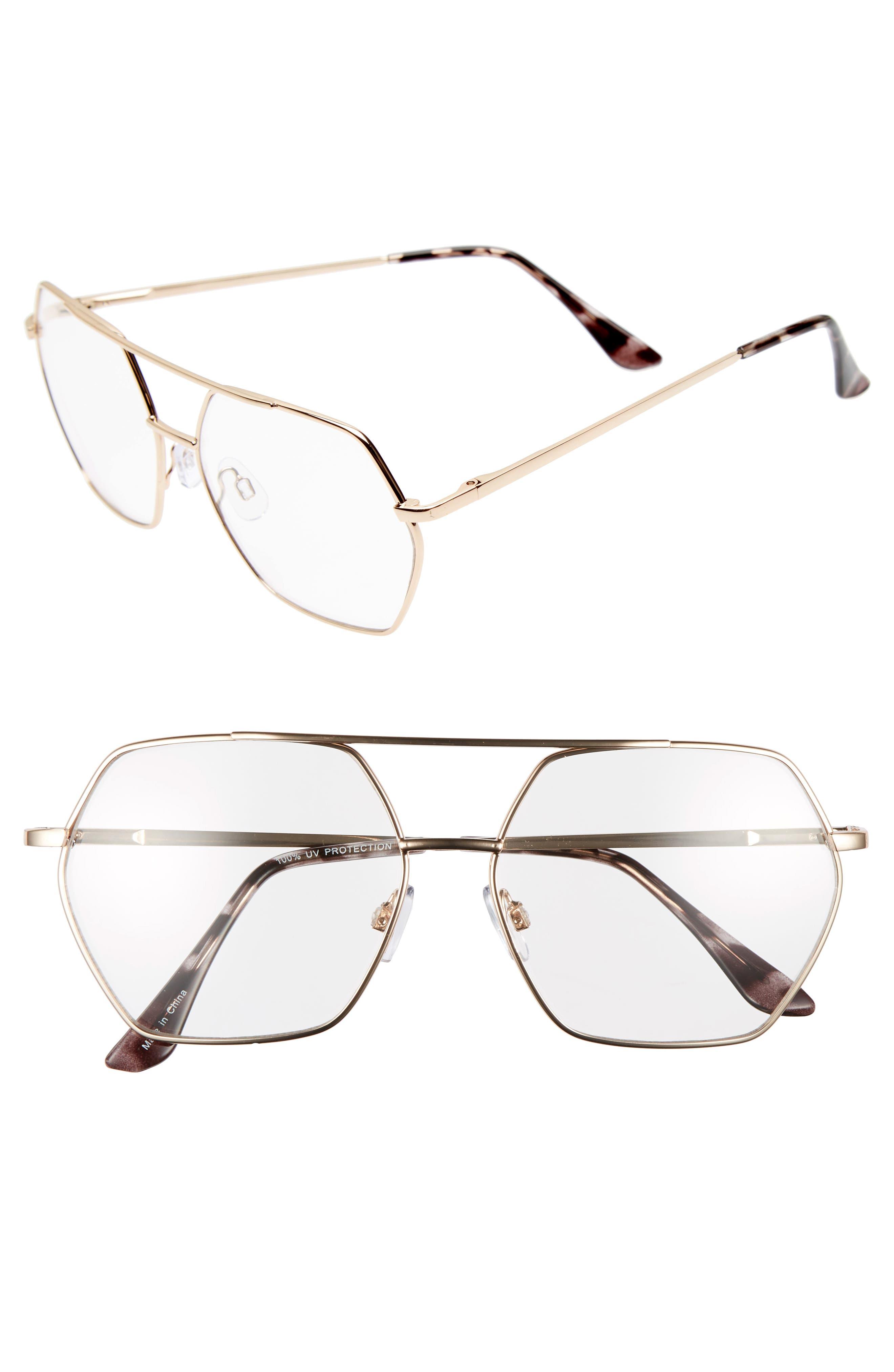 BP. 56mm Aviator Fashion Glasses