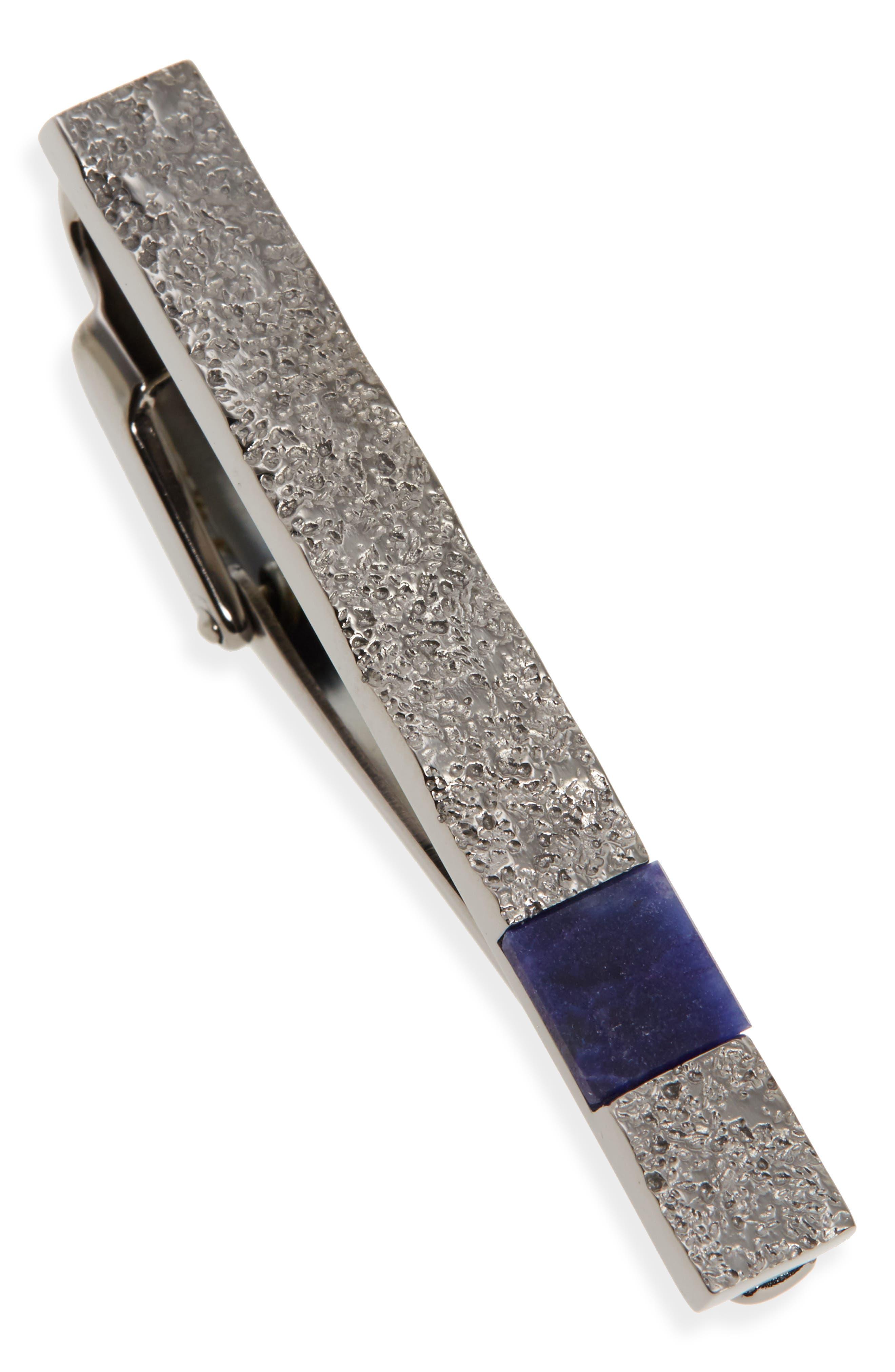 Lanvin Sodalite Brass Tie Bar